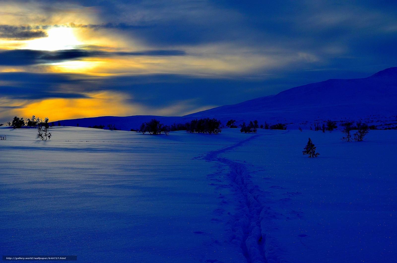 壁紙をダウンロード 冬,  日没,  雪,  ドリフト デスクトップの解像度のための無料壁紙 4928x3264 — 絵 №649727