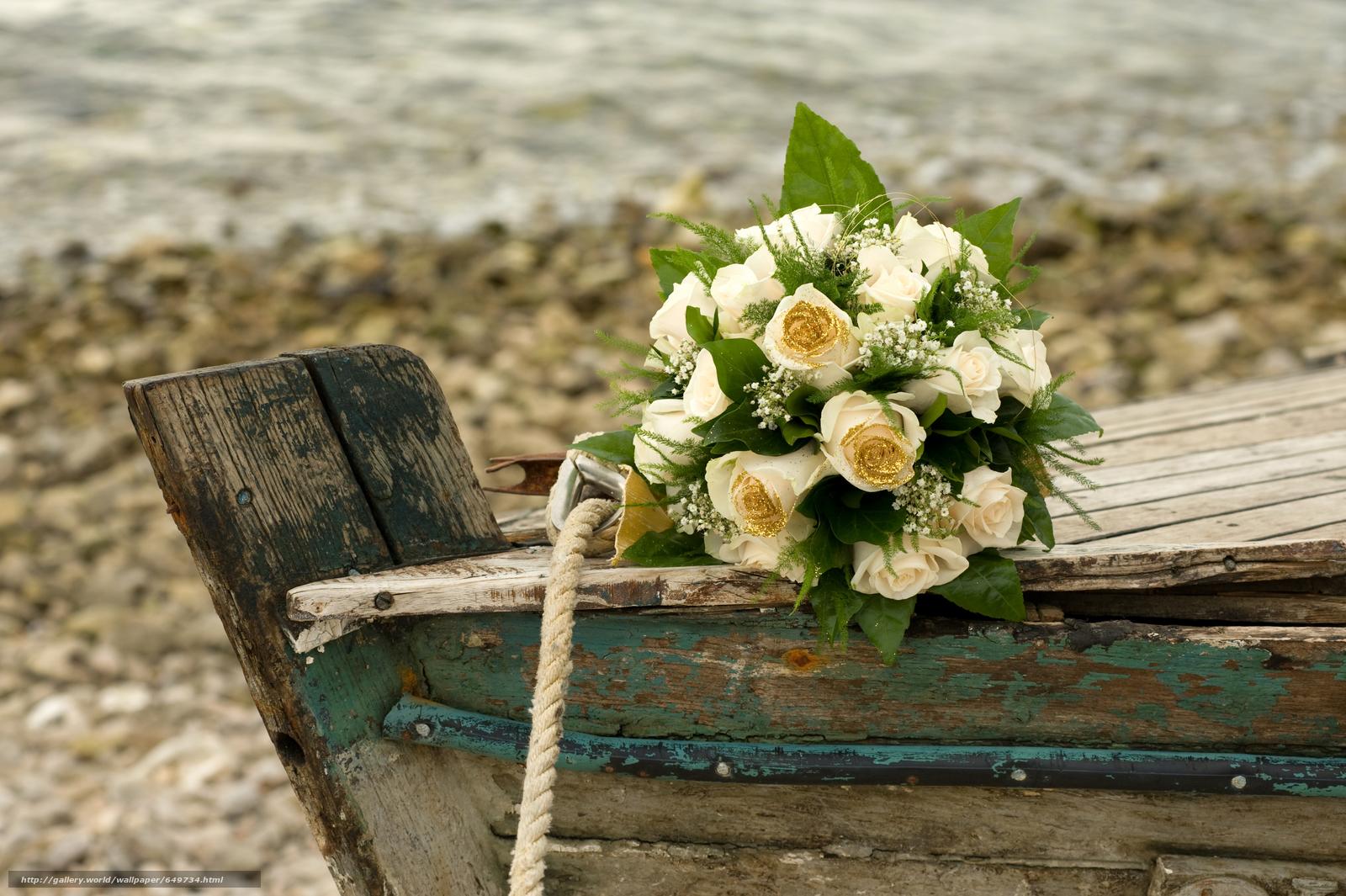 Скачать обои цветы,  букет,  композиция,  лодка бесплатно для рабочего стола в разрешении 8512x5664 — картинка №649734
