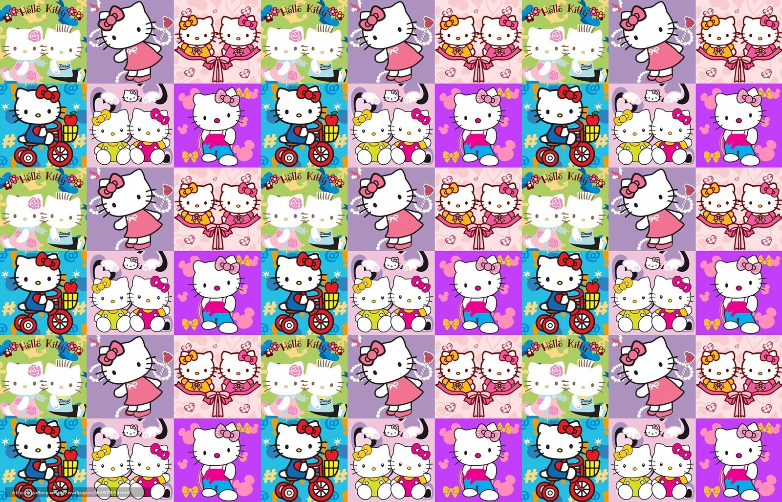 Download wallpaper kitty,  pussycat,  cartoon,  TEXTURE free desktop wallpaper in the resolution 1942x1247 — picture №649739