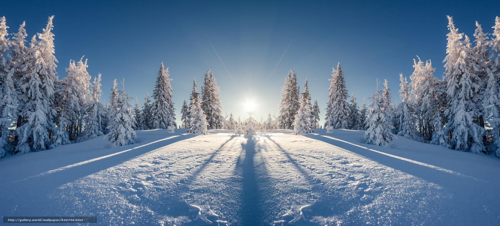 Скачать обои Карпаты,  Украина,  зима,  снег бесплатно для рабочего стола в разрешении 6946x3145 — картинка №649746