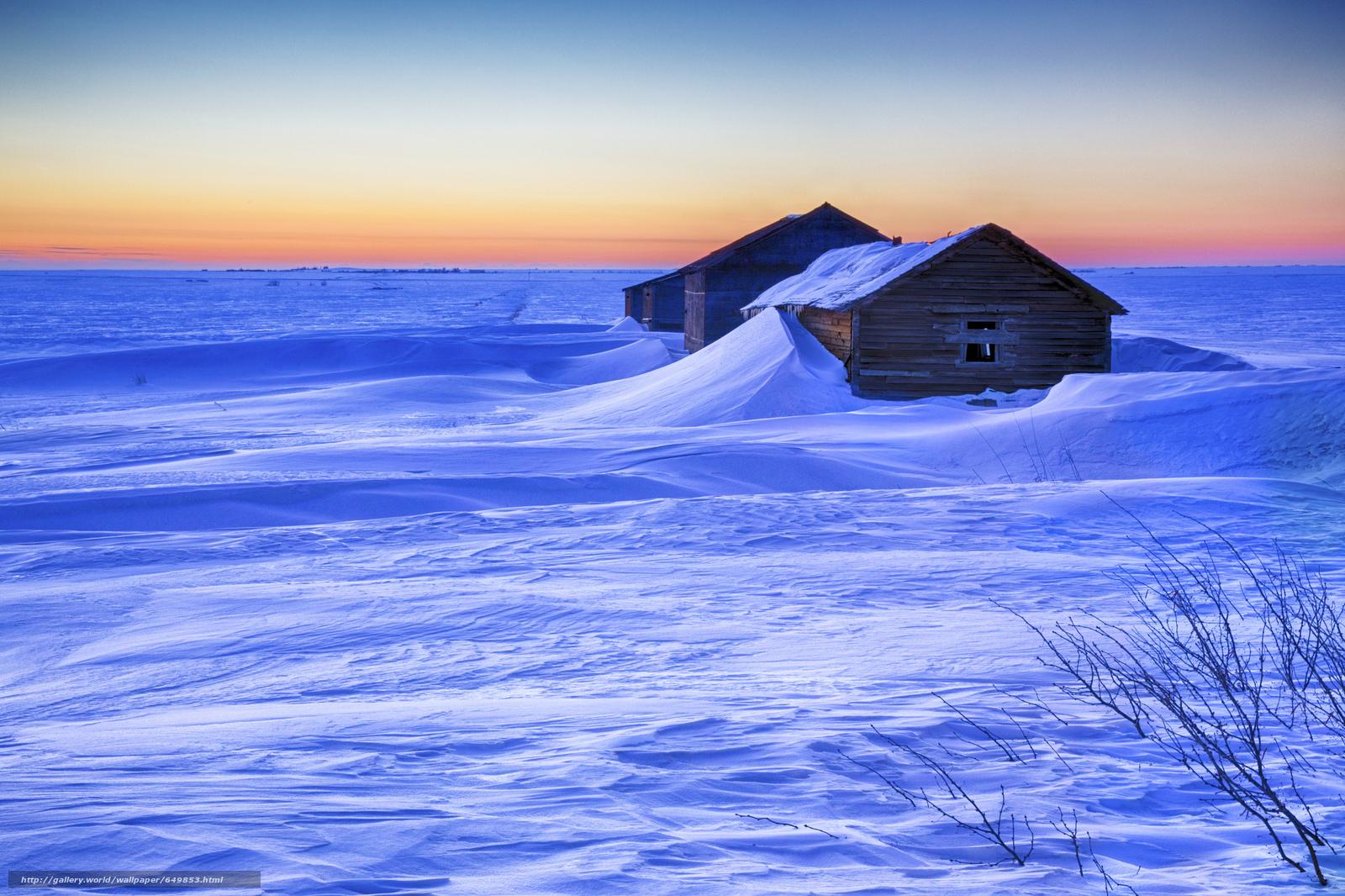 Descargar gratis puesta del sol,  invierno,  casa,  nieve Fondos de escritorio en la resolucin 2048x1365 — imagen №649853
