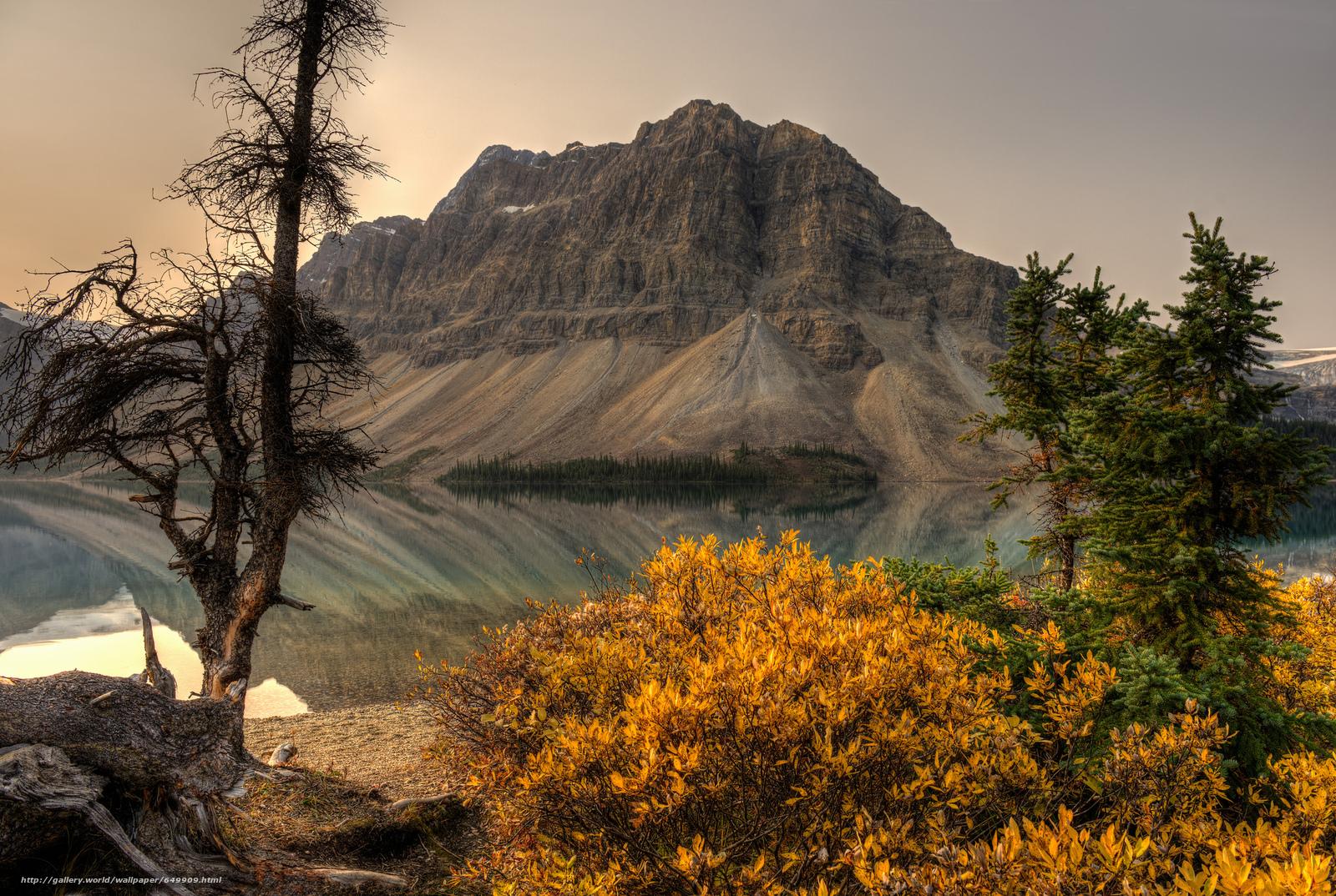 Descargar gratis puesta del sol,  lago,  Montañas,  árboles Fondos de escritorio en la resolucin 2048x1375 — imagen №649909