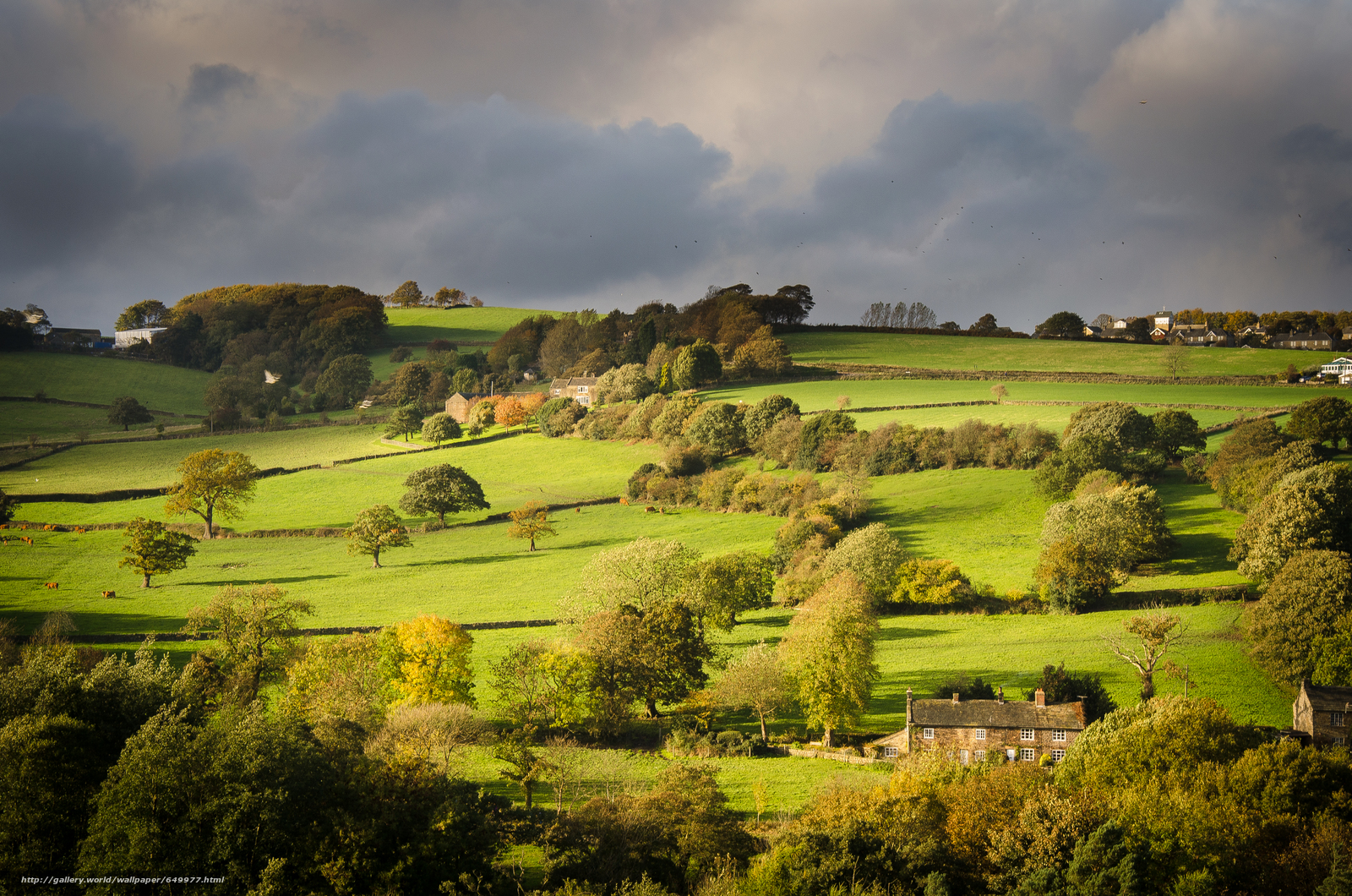 Hathersage United Kingdom  City pictures : Download wallpaper valley, Hathersage, United Kingdom, England free ...