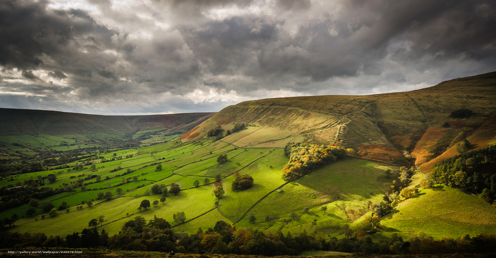 Hathersage United Kingdom  city pictures gallery : Download wallpaper valley, Hathersage, United Kingdom, England free ...