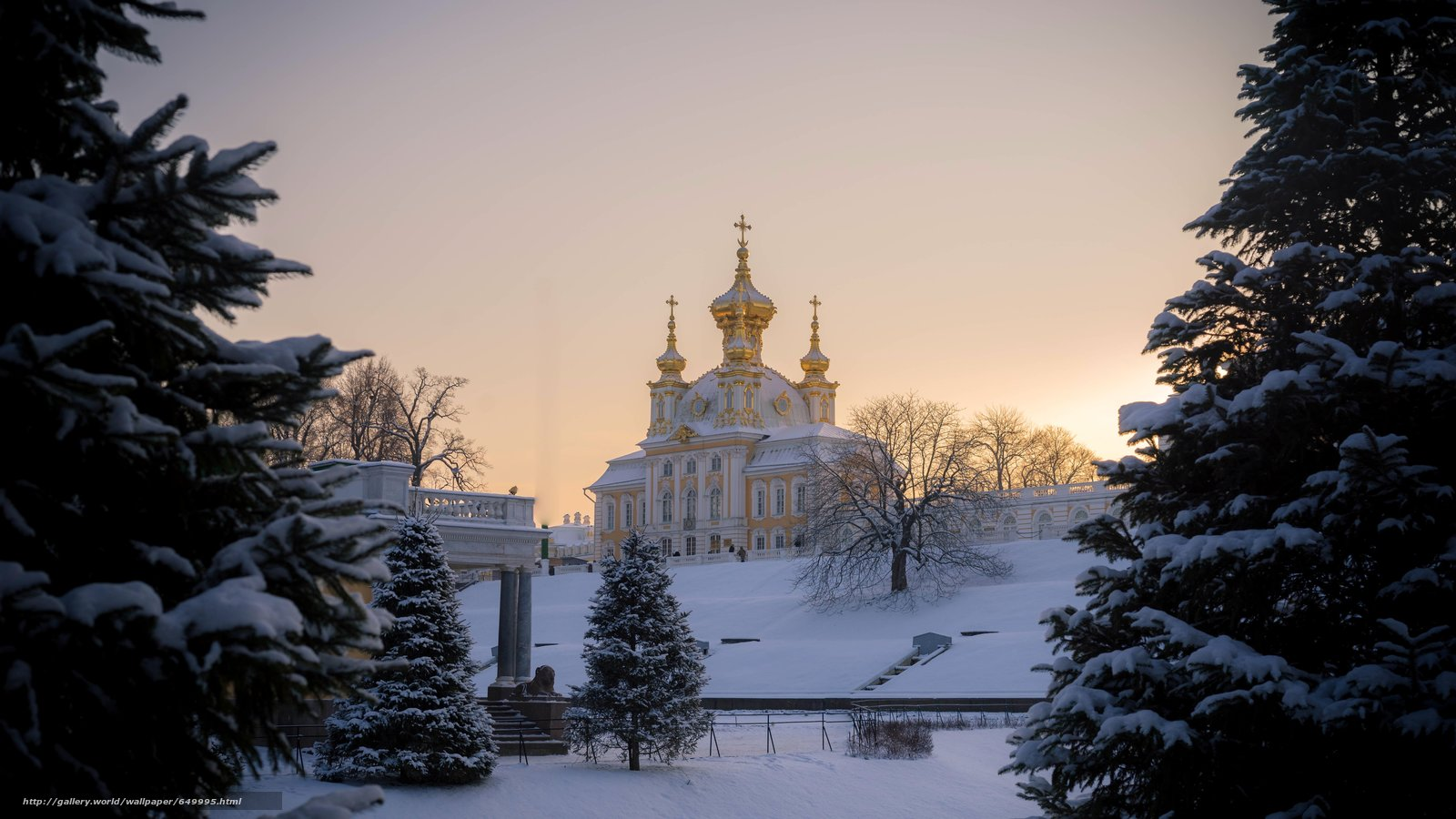 Download wallpaper Peterhof,  rise,  Russia free desktop wallpaper in the resolution 5787x3256 — picture №649995