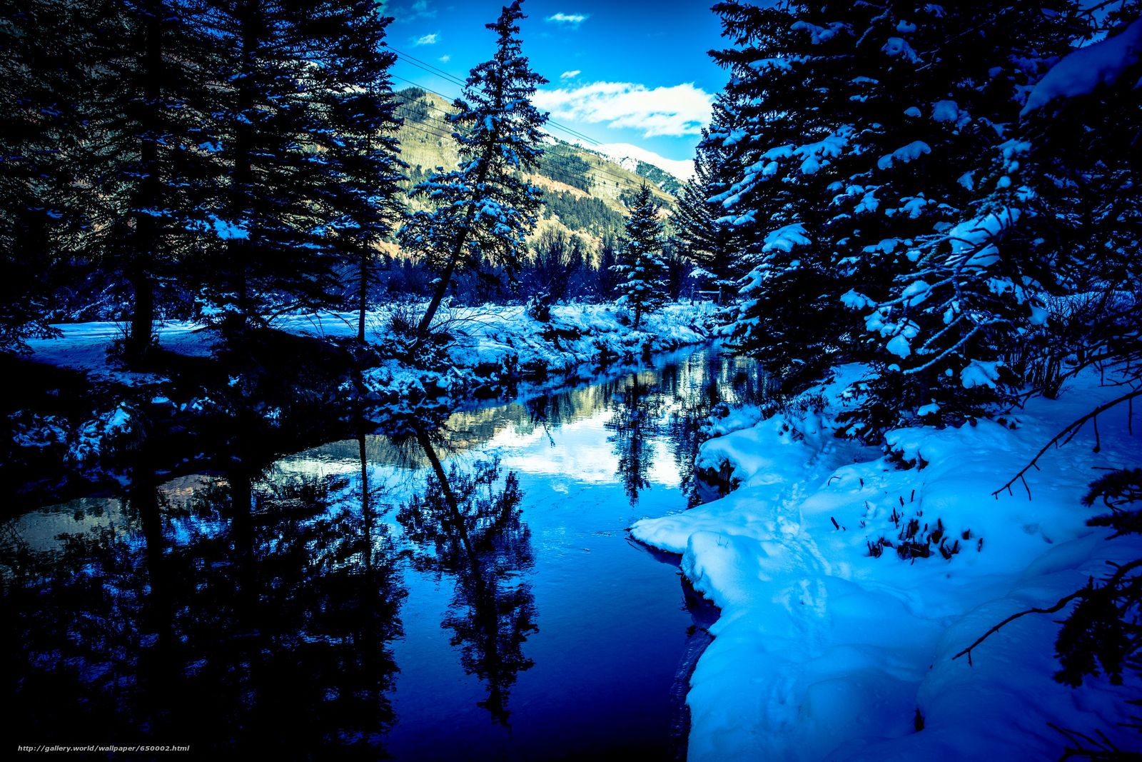 Download wallpaper San Miguel River,  Colorado,  winter,  river free desktop wallpaper in the resolution 3456x2304 — picture №650002