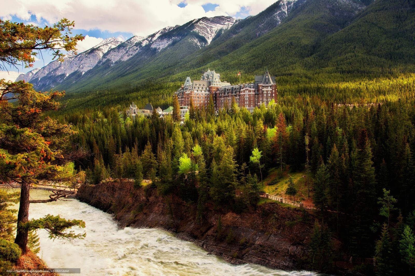 Скачать обои Banff Springs Hotel,  Banff National Park,  Banff,  Alberta бесплатно для рабочего стола в разрешении 2048x1365 — картинка №650027