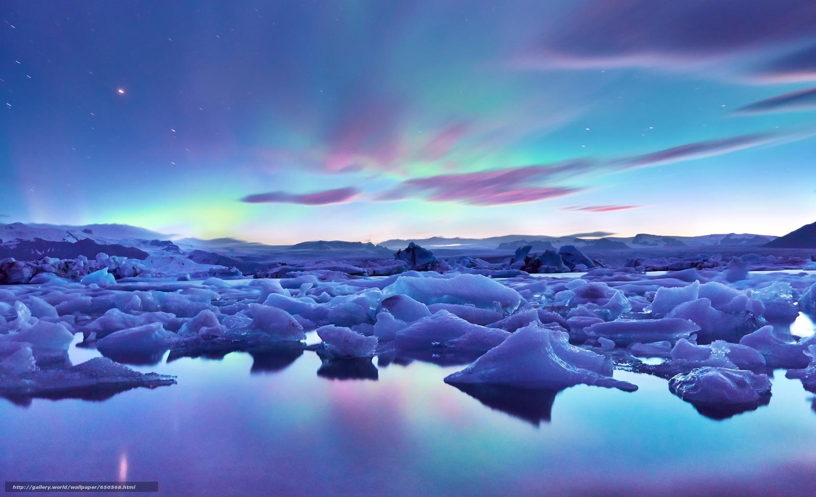 下载壁纸 冰岛, 冰, 冰川, 天空 免费为您的桌面分辨率的壁纸 3840x