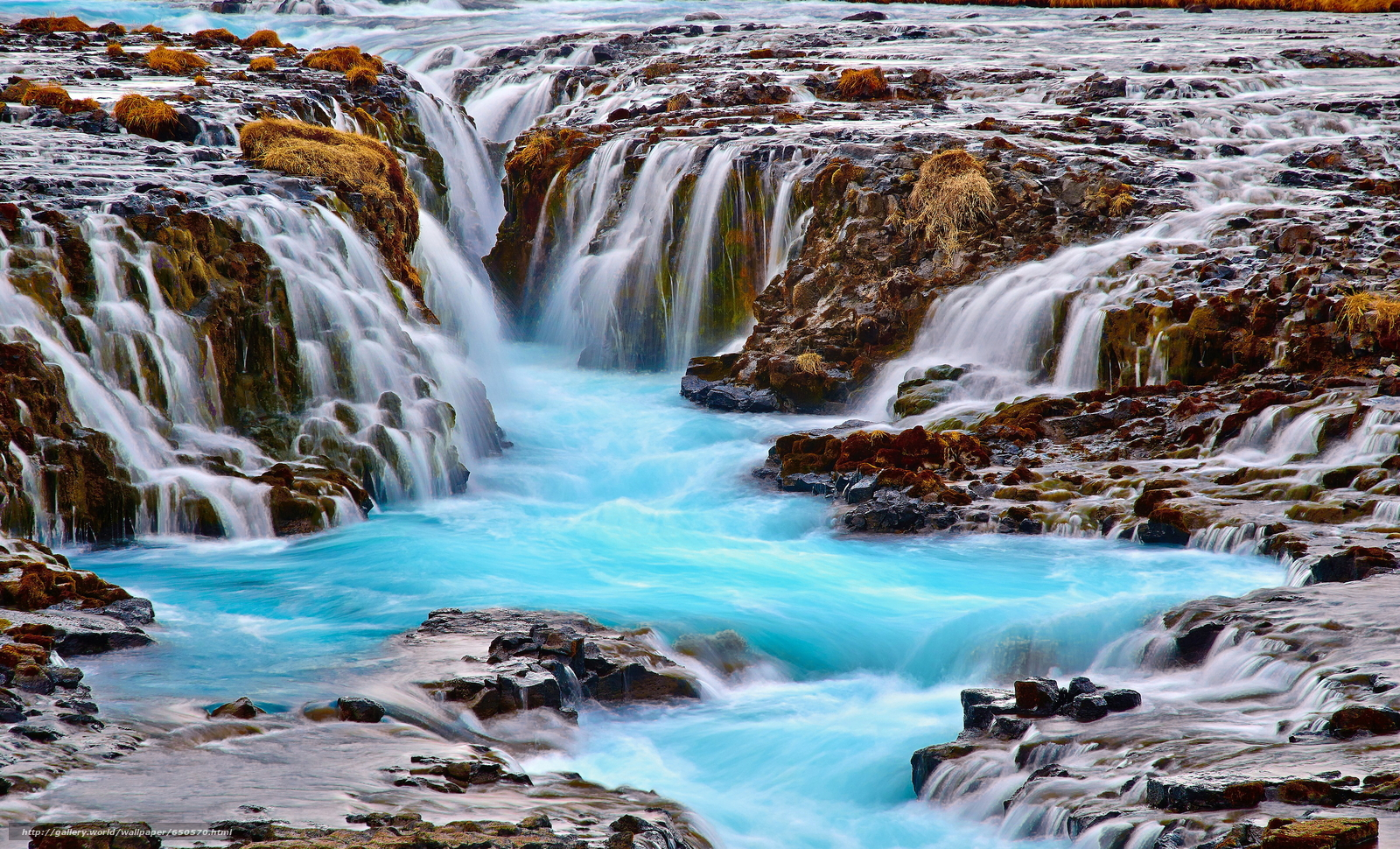 Download wallpaper waterfalls,  stones,  pond,  Iceland free desktop wallpaper in the resolution 3840x2329 — picture №650570
