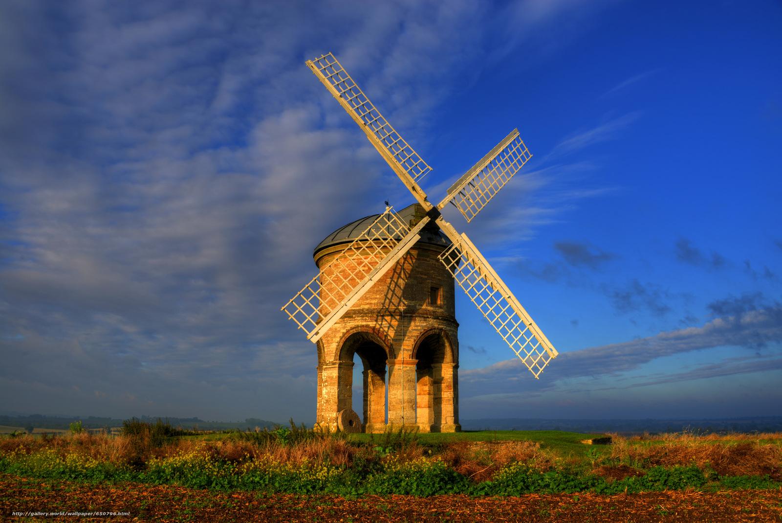 Ветряные мельницы обои для рабочего стола