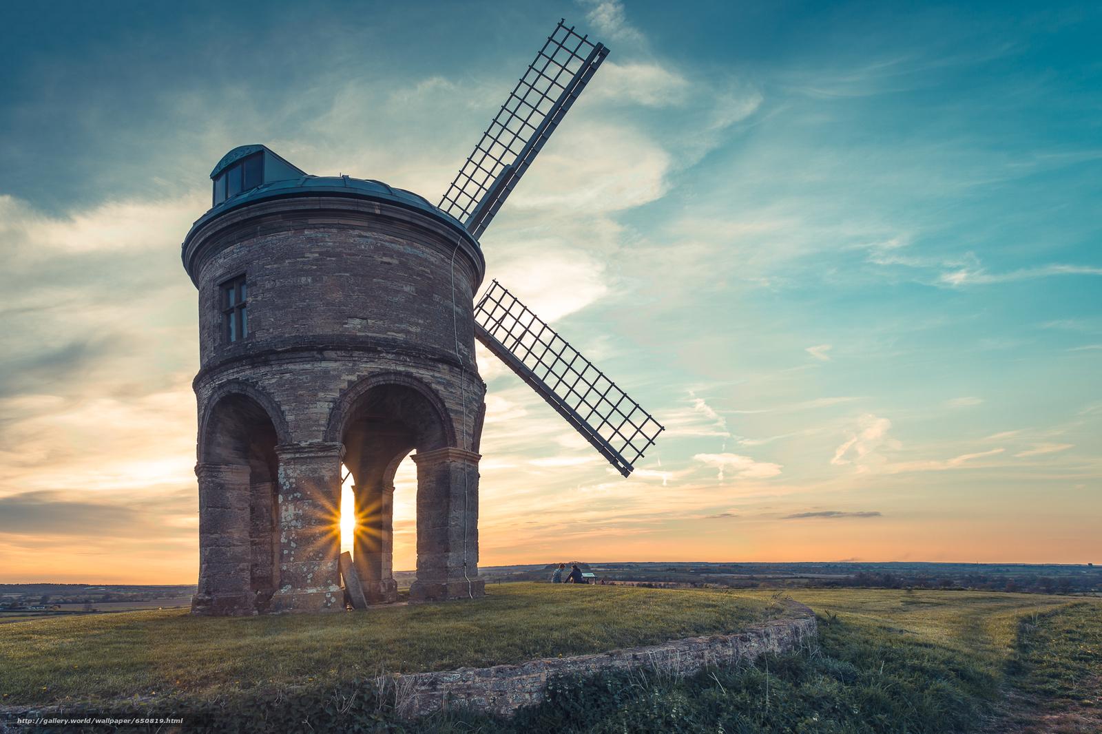 Скачать обои Честертон ветряная мельница,  Уорикшир,  Великобритания,  Chesterton Windmill бесплатно для рабочего стола в разрешении 2048x1365 — картинка №650819
