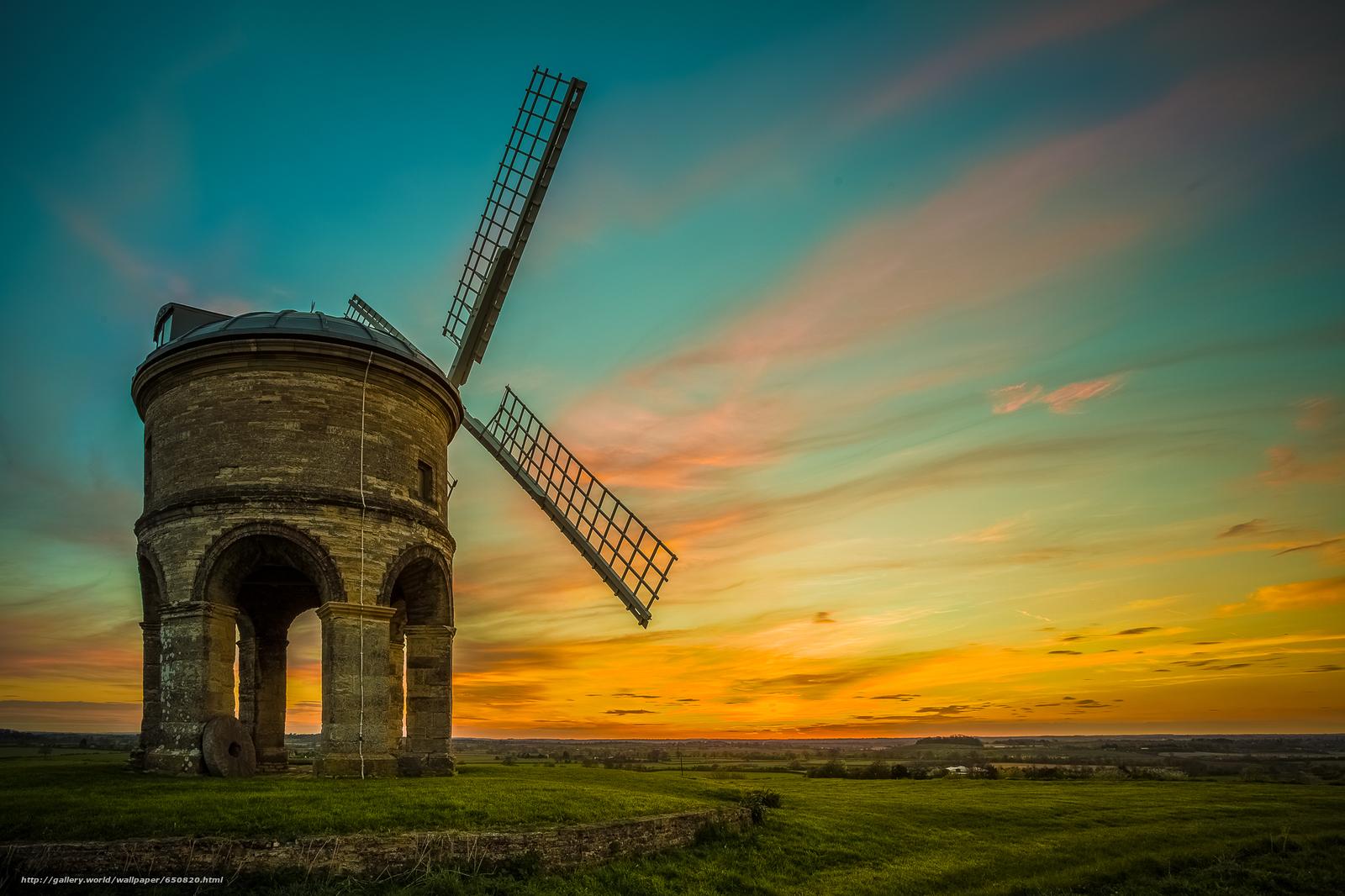 Скачать обои Честертон ветряная мельница,  Уорикшир,  Великобритания,  Chesterton Windmill бесплатно для рабочего стола в разрешении 2048x1365 — картинка №650820