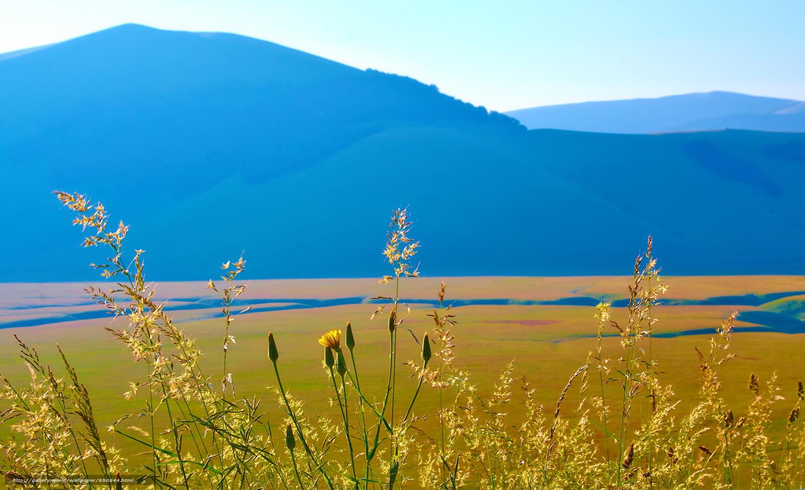Скачать обои Италия,  горы,  поле,  небо бесплатно для рабочего стола в разрешении 3840x2335 — картинка №650844