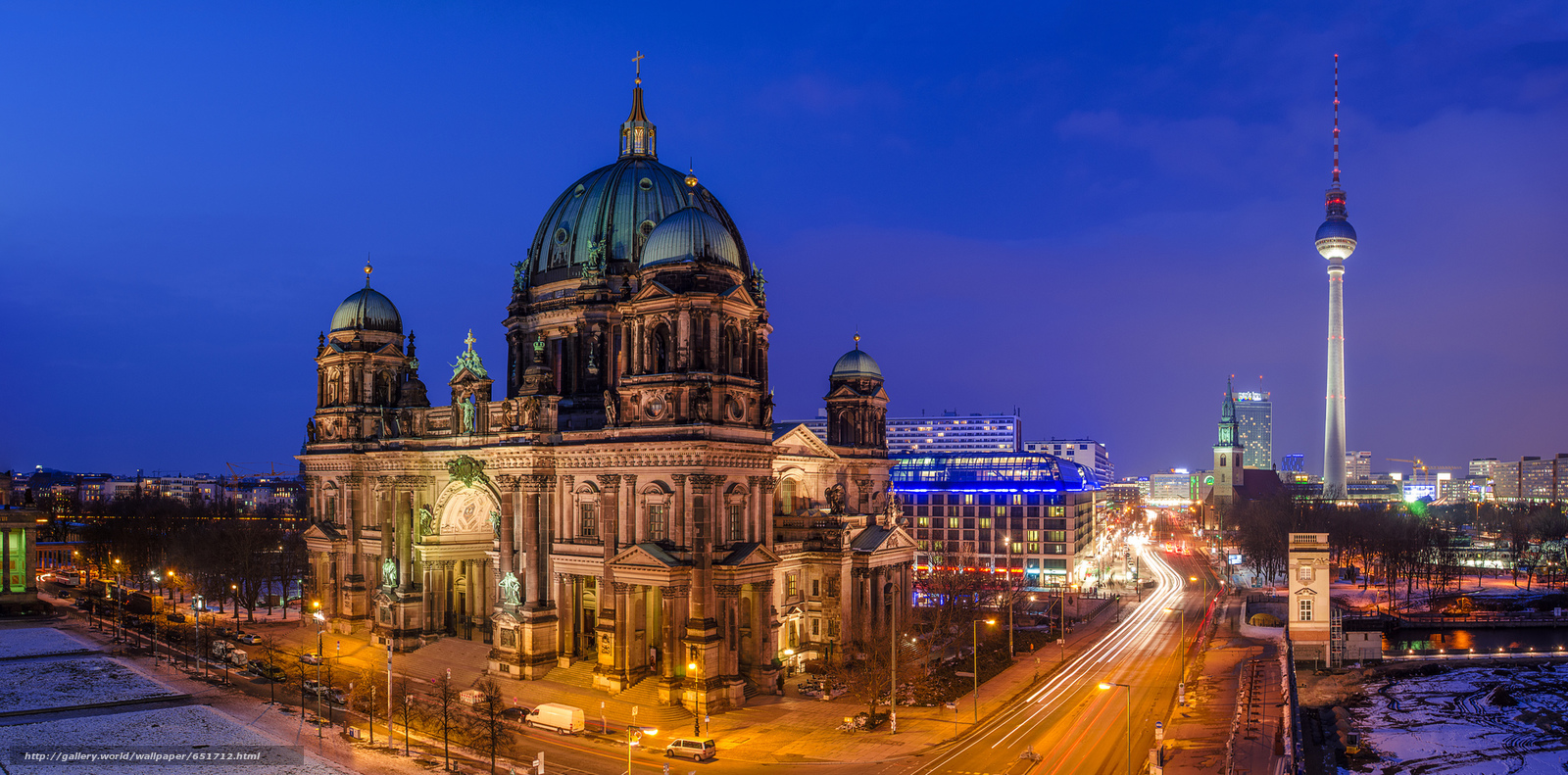 scaricare gli sfondi Berlino,  Berlino,  capitale,  Deutschland Sfondi gratis per la risoluzione del desktop 2048x1013 — immagine №651712
