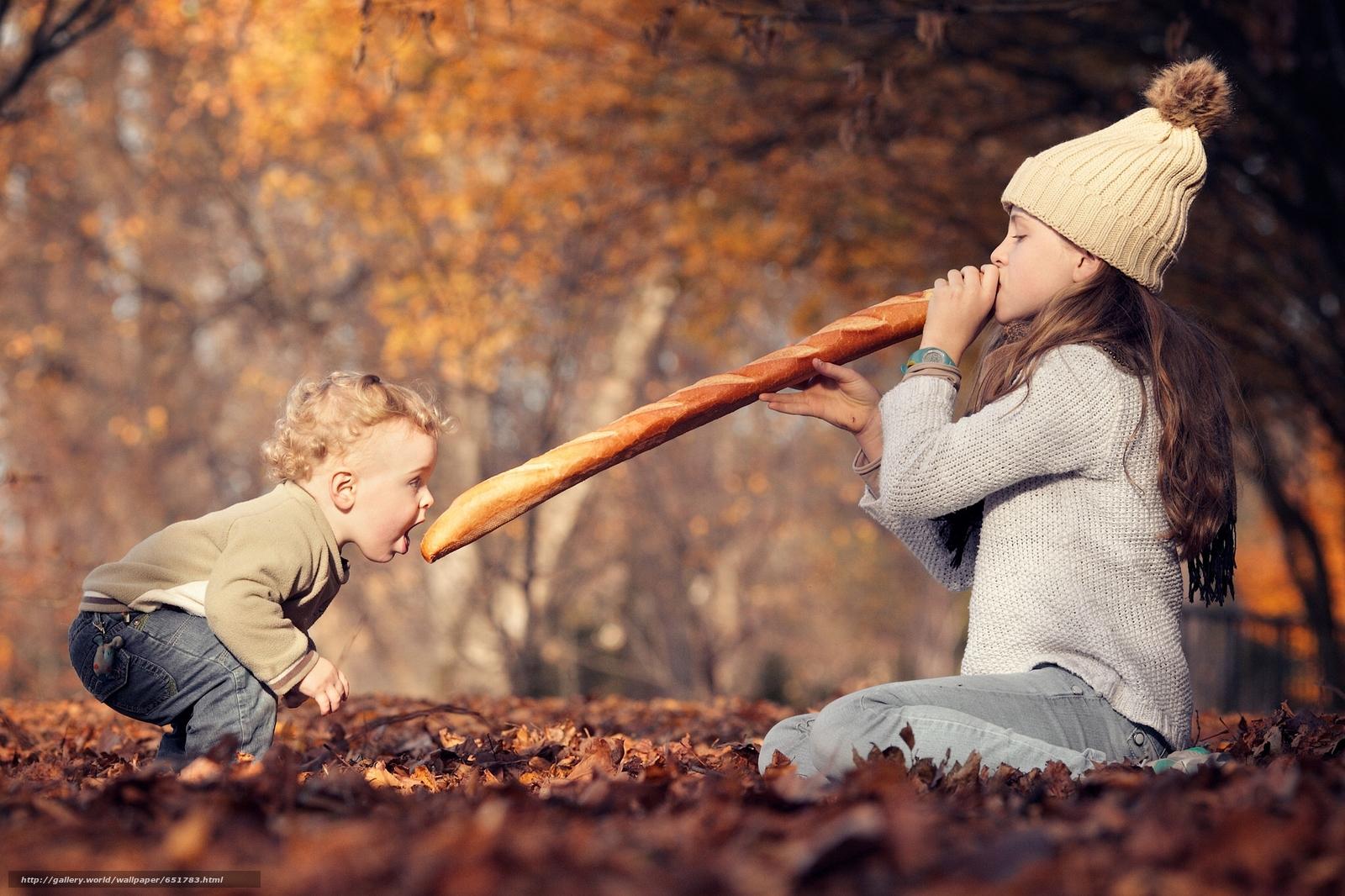 Скачать обои дети,  девочка,  мальчик,  багет бесплатно для рабочего стола в разрешении 2048x1365 — картинка №651783