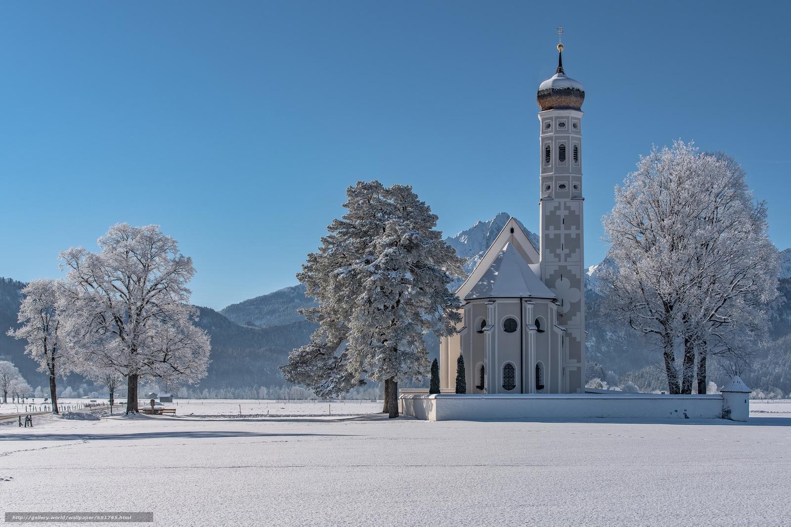 scaricare gli sfondi Sankt Coloman,  Schwangau,  Baviera,  Germania Sfondi gratis per la risoluzione del desktop 2048x1366 — immagine №651795
