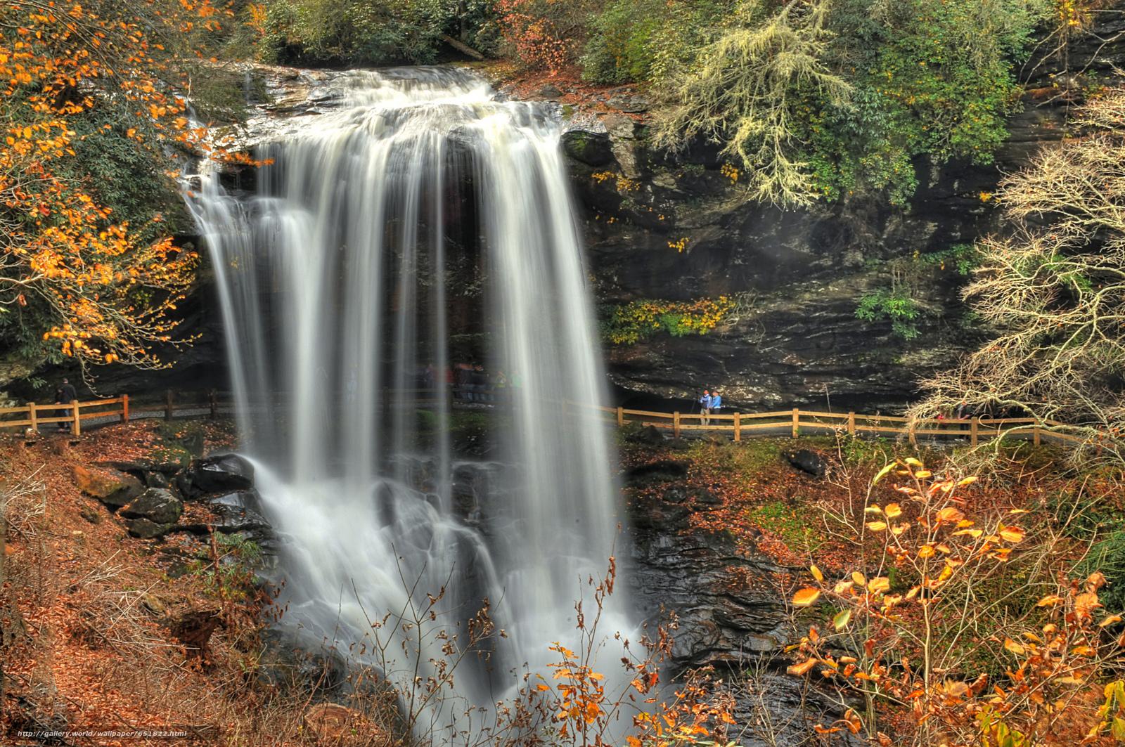 Скачать обои водопад,  скалы,  река,  лес бесплатно для рабочего стола в разрешении 2048x1360 — картинка №651822