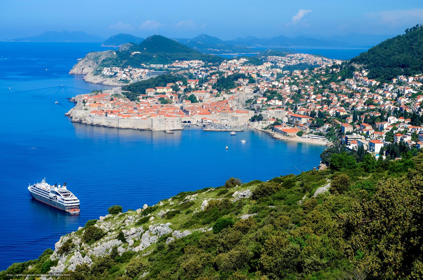 Скачать обои Dubrovnik,  Croatia,  Дубровник,  Хорватия бесплатно для рабочего стола в разрешении 2048x1356 — картинка №651894