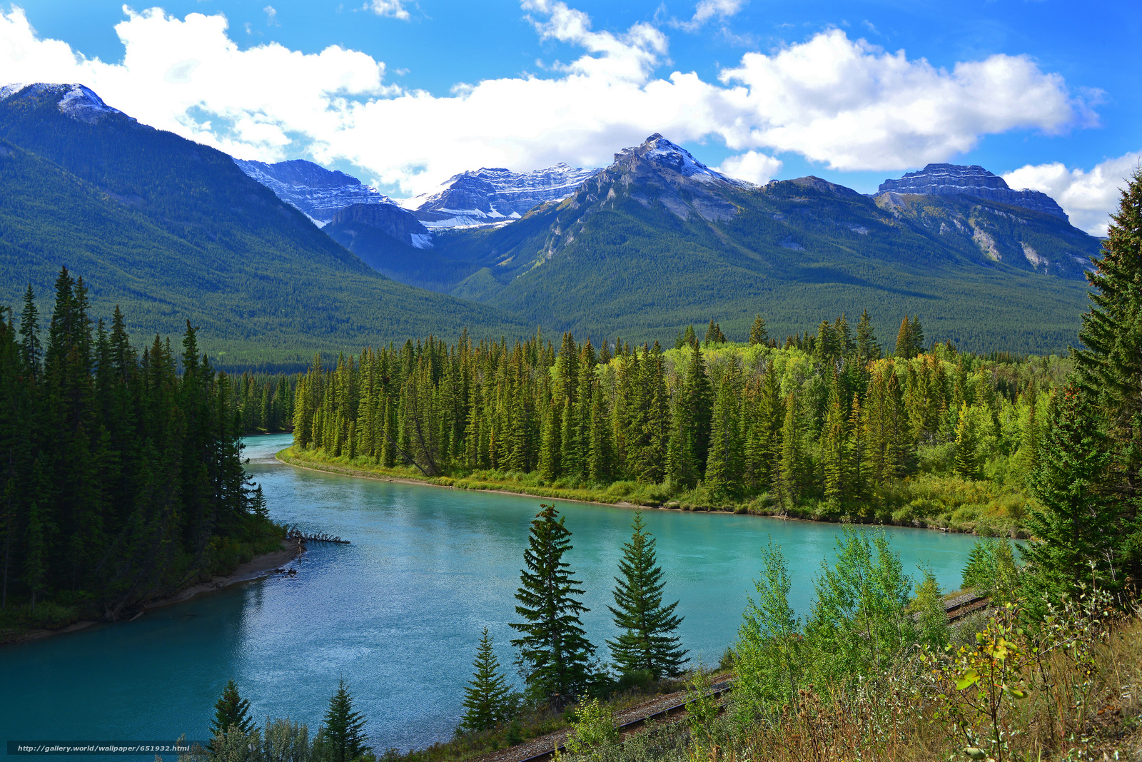 Download wallpaper Bow river,  Canada,  Mountains,  river free desktop wallpaper in the resolution 2048x1367 — picture №651932
