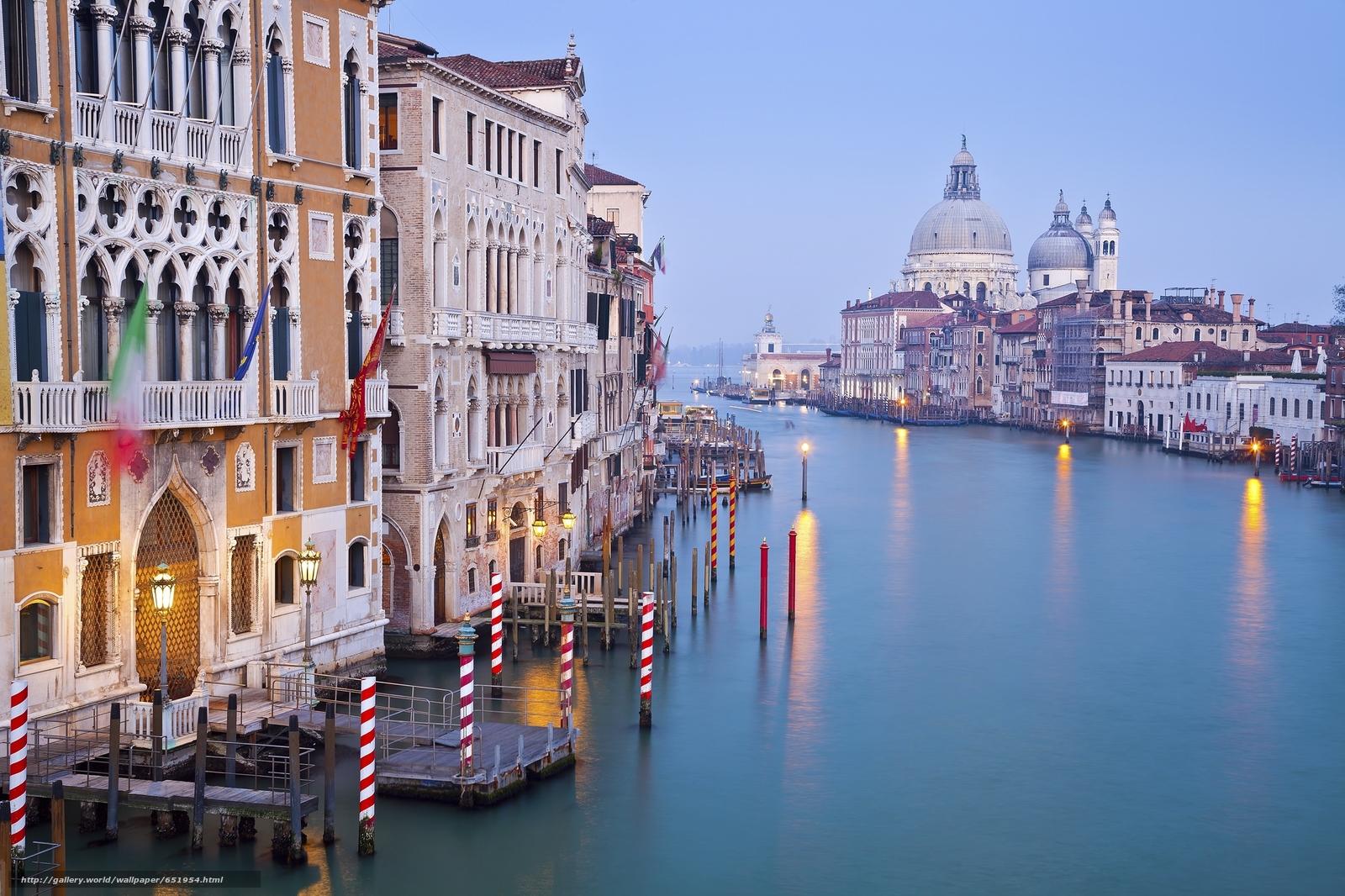 Скачать обои Grand Canal,  Venice,  венеция,  италия бесплатно для рабочего стола в разрешении 2048x1365 — картинка №651954