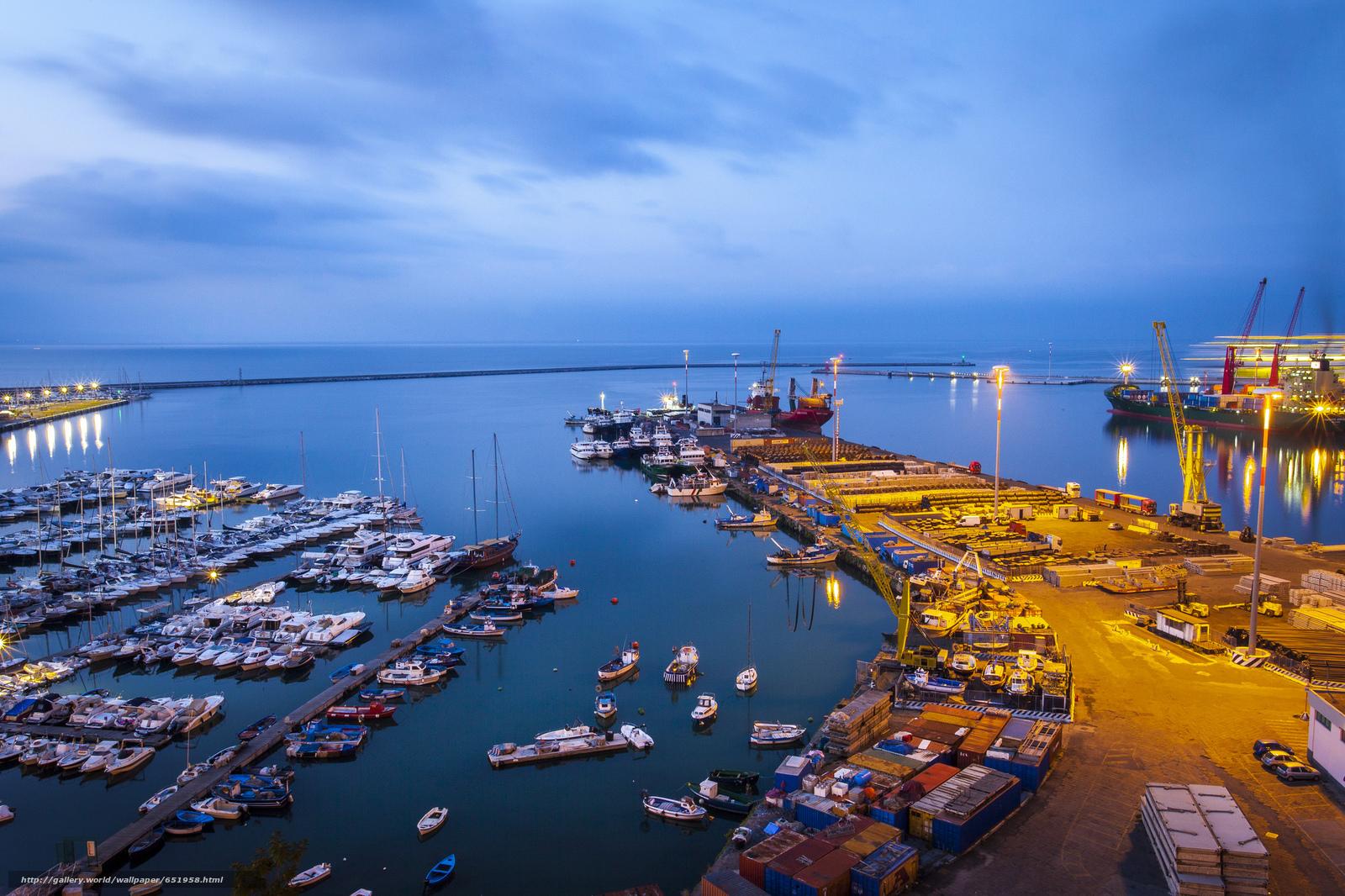 scaricare gli sfondi Salerno,  Italia,  porto Sfondi gratis per la risoluzione del desktop 2048x1365 — immagine №651958