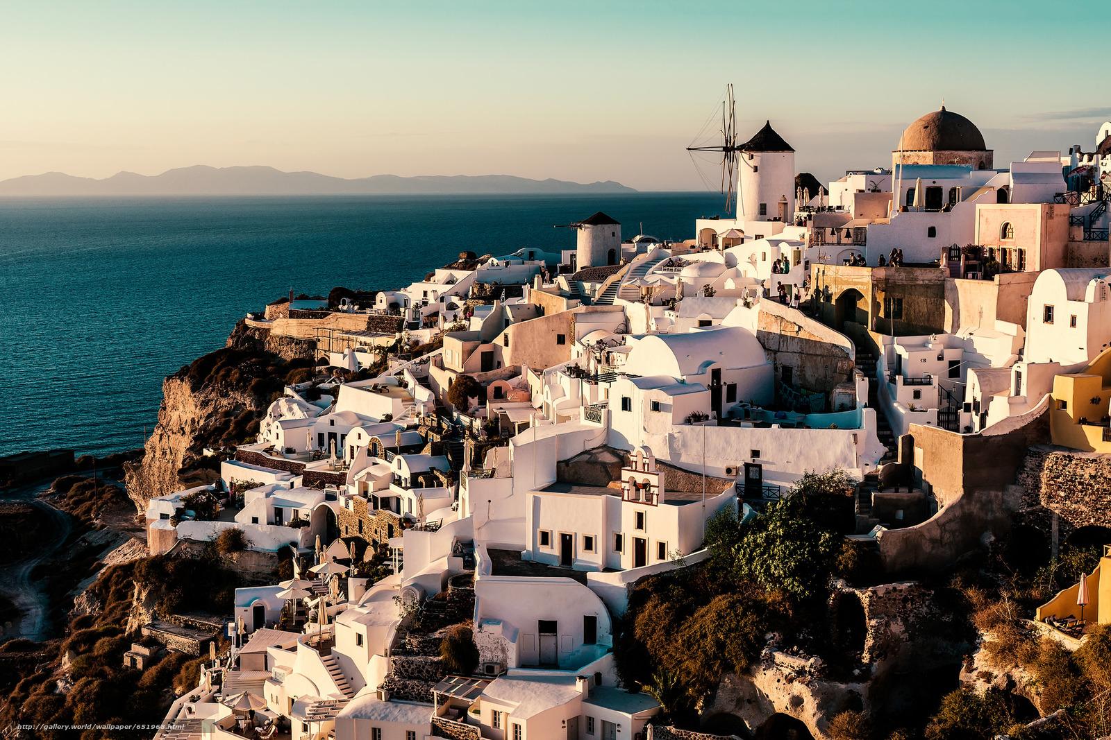 scaricare gli sfondi Grecia,  Santorini,  Egeo Meridionale,  Oia Sfondi gratis per la risoluzione del desktop 2048x1366 — immagine №651968