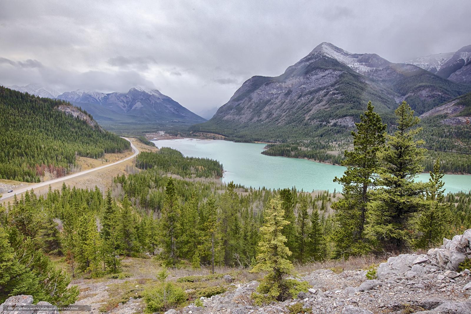 scaricare gli sfondi Kananaskis Barriera lago,  lago,  Montagne,  alberi Sfondi gratis per la risoluzione del desktop 2048x1365 — immagine №651974