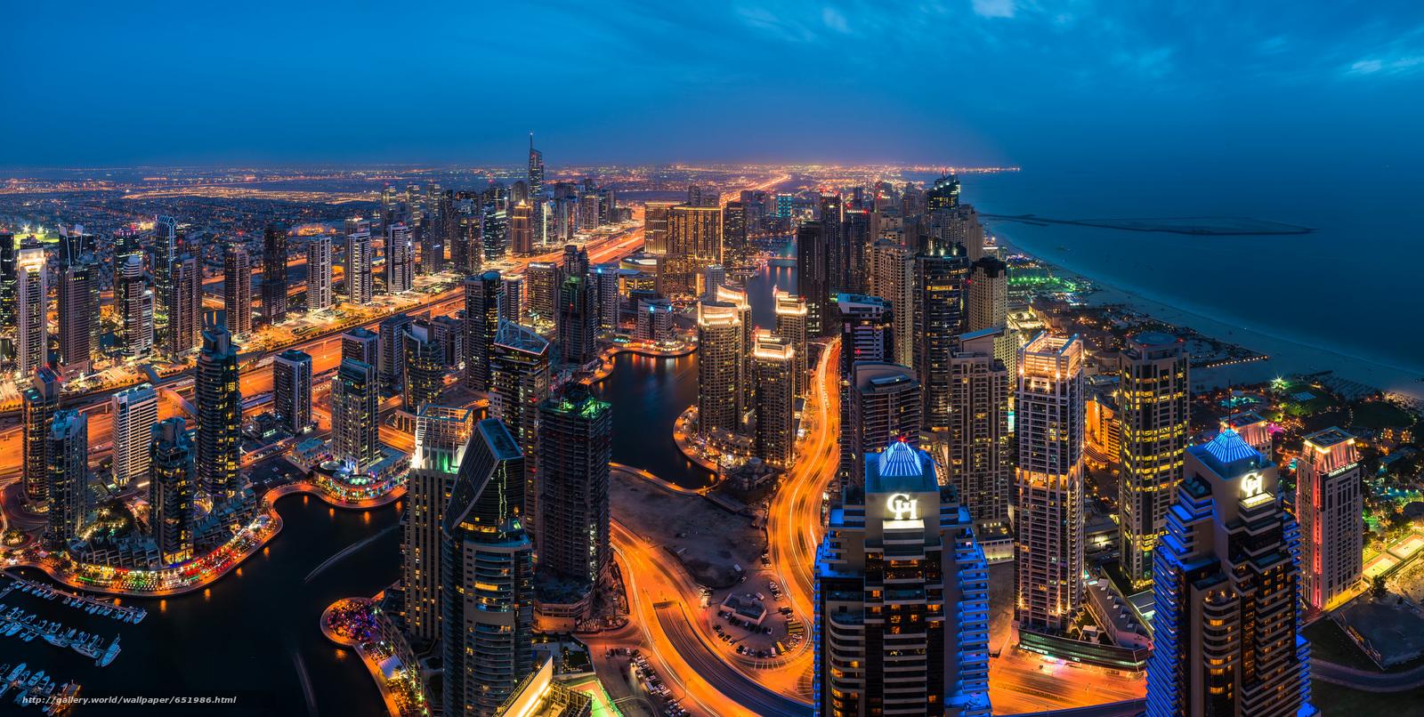 Скачать обои Dubai,  UAE,  Дубай,  ОАЭ бесплатно для рабочего стола в разрешении 2048x1032 — картинка №651986
