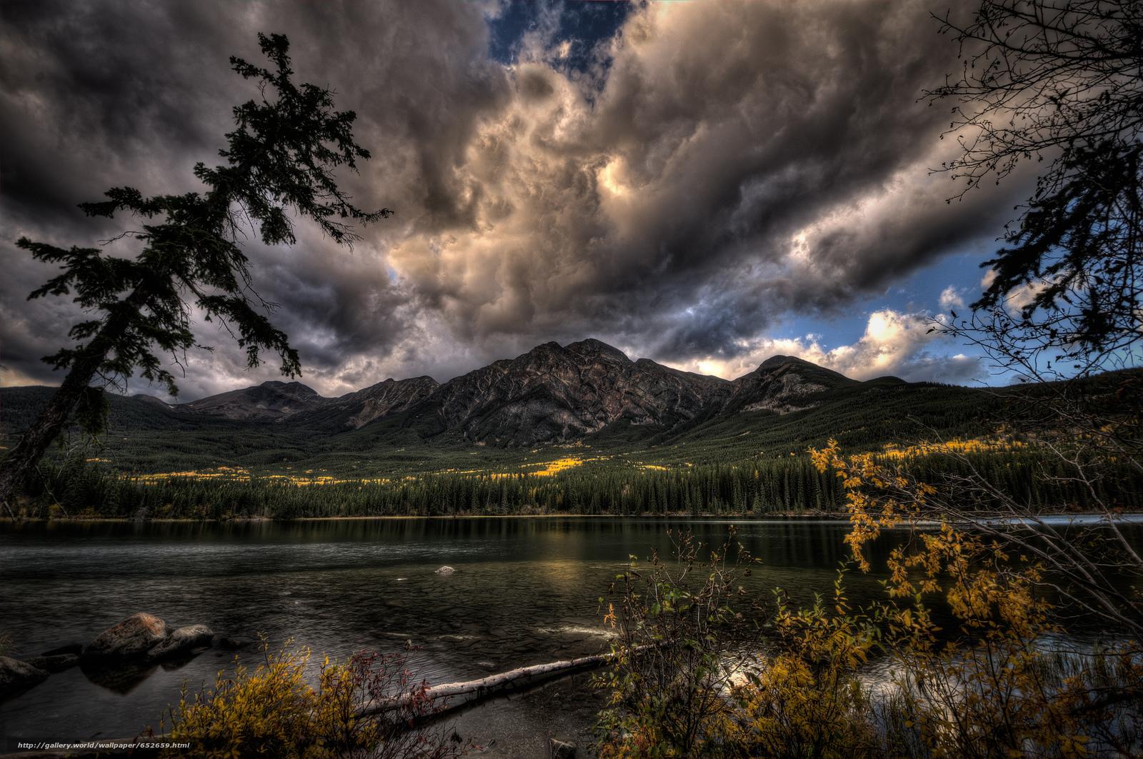 scaricare gli sfondi lago,  Montagne,  alberi,  paesaggio Sfondi gratis per la risoluzione del desktop 2048x1360 — immagine №652659