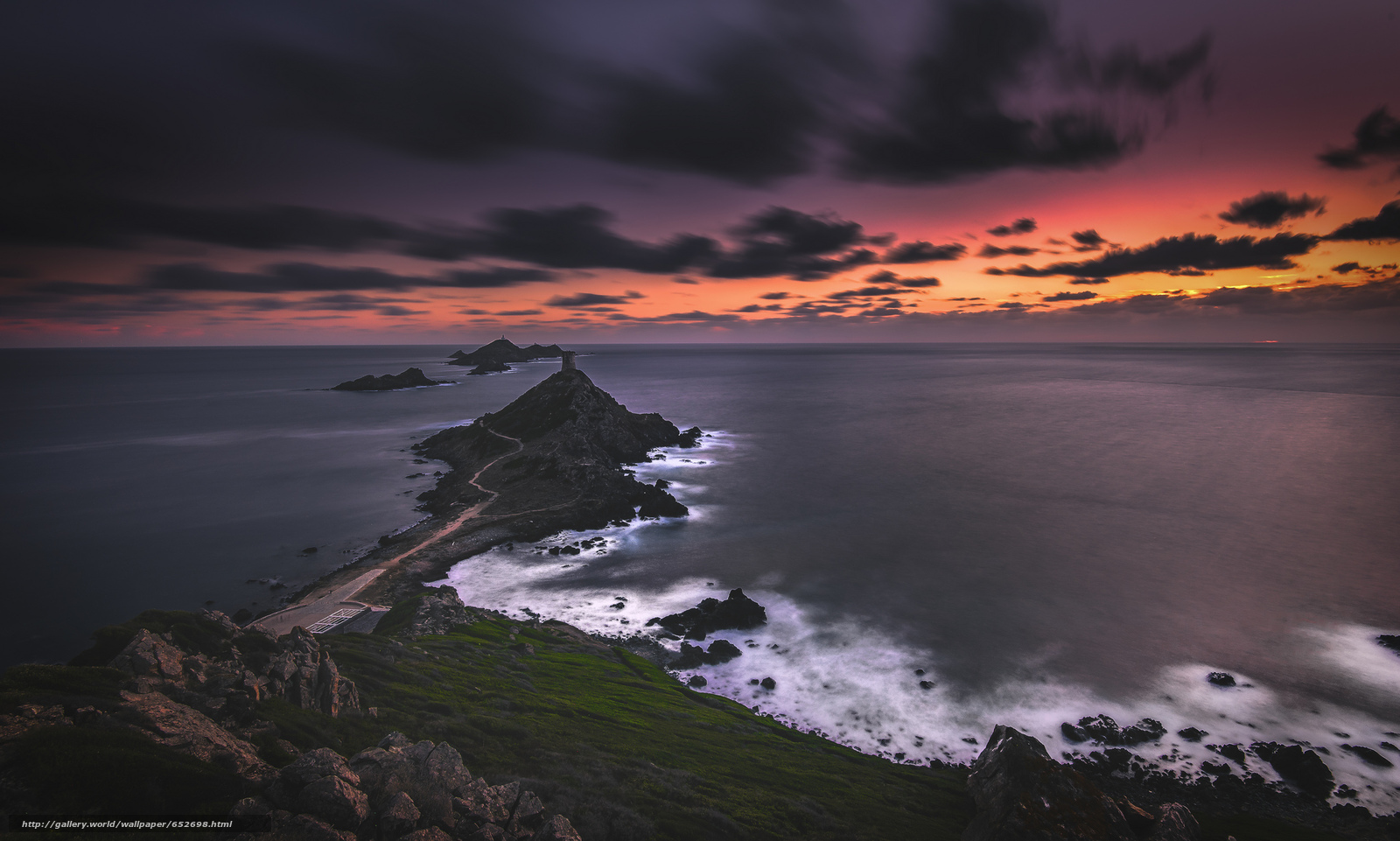 scaricare gli sfondi mare,  puntellare,  NUVOLE,  tramonto Sfondi gratis per la risoluzione del desktop 2048x1230 — immagine №652698