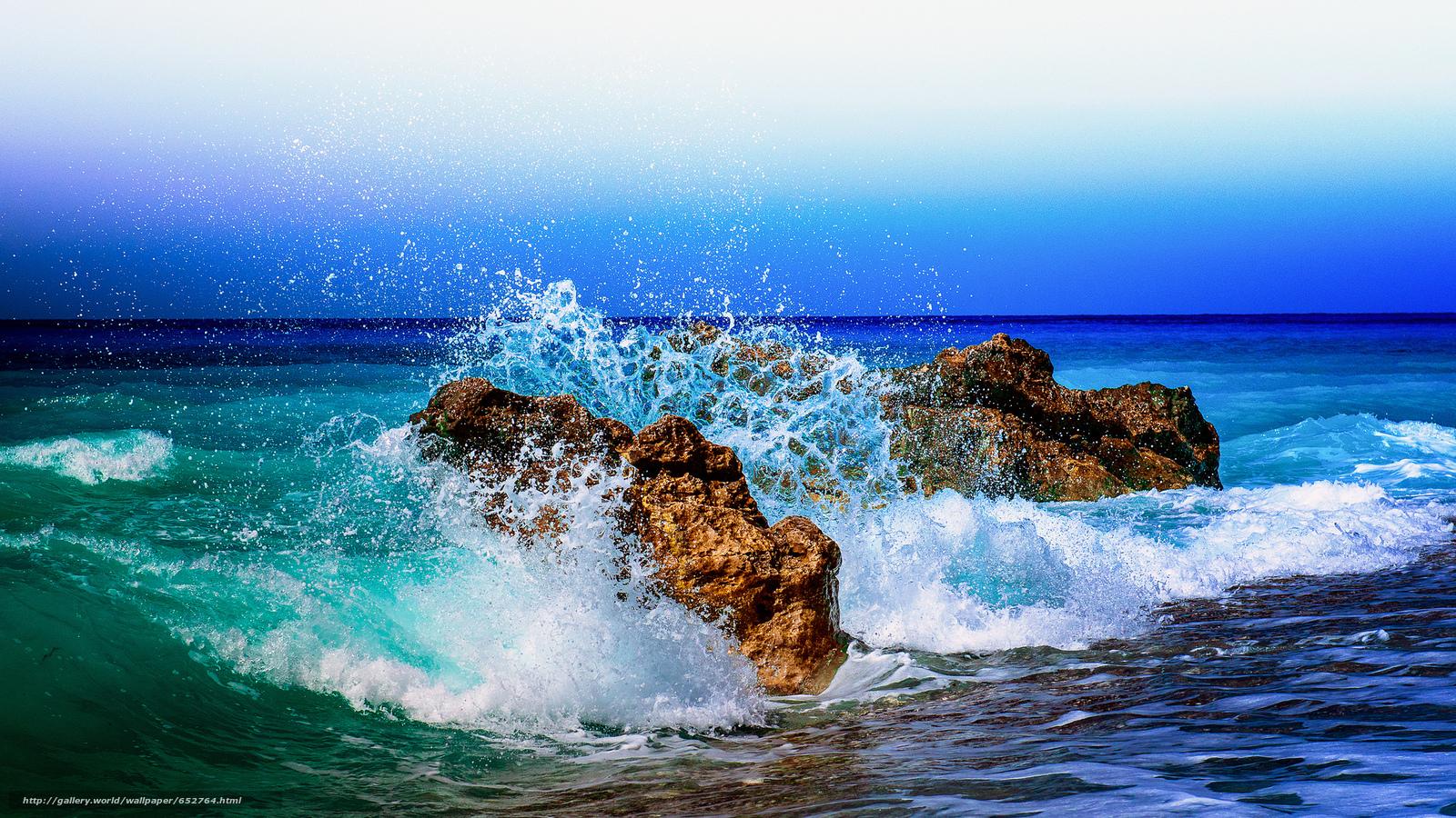 Скачать обои закат,  море,  волны,  берег бесплатно для рабочего стола в разрешении 2048x1152 — картинка №652764
