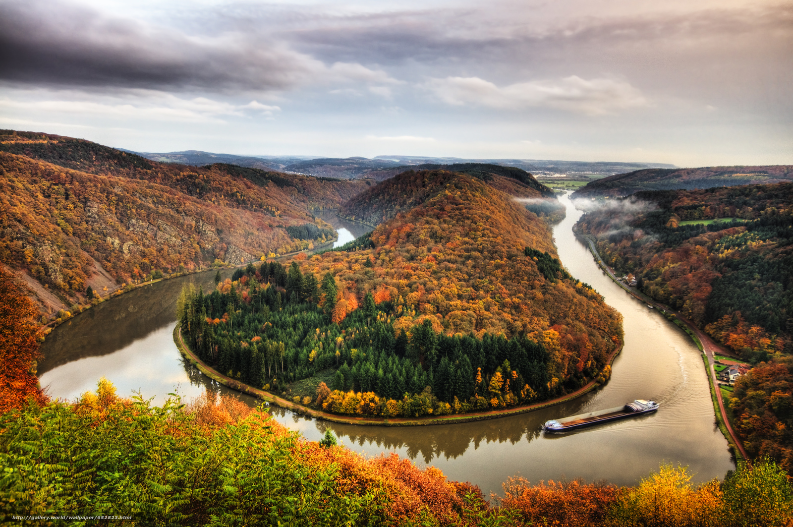 Download wallpaper Mettlach,  german,  Horseshoe Bend,  Bend of the river free desktop wallpaper in the resolution 4288x2848 — picture №652823