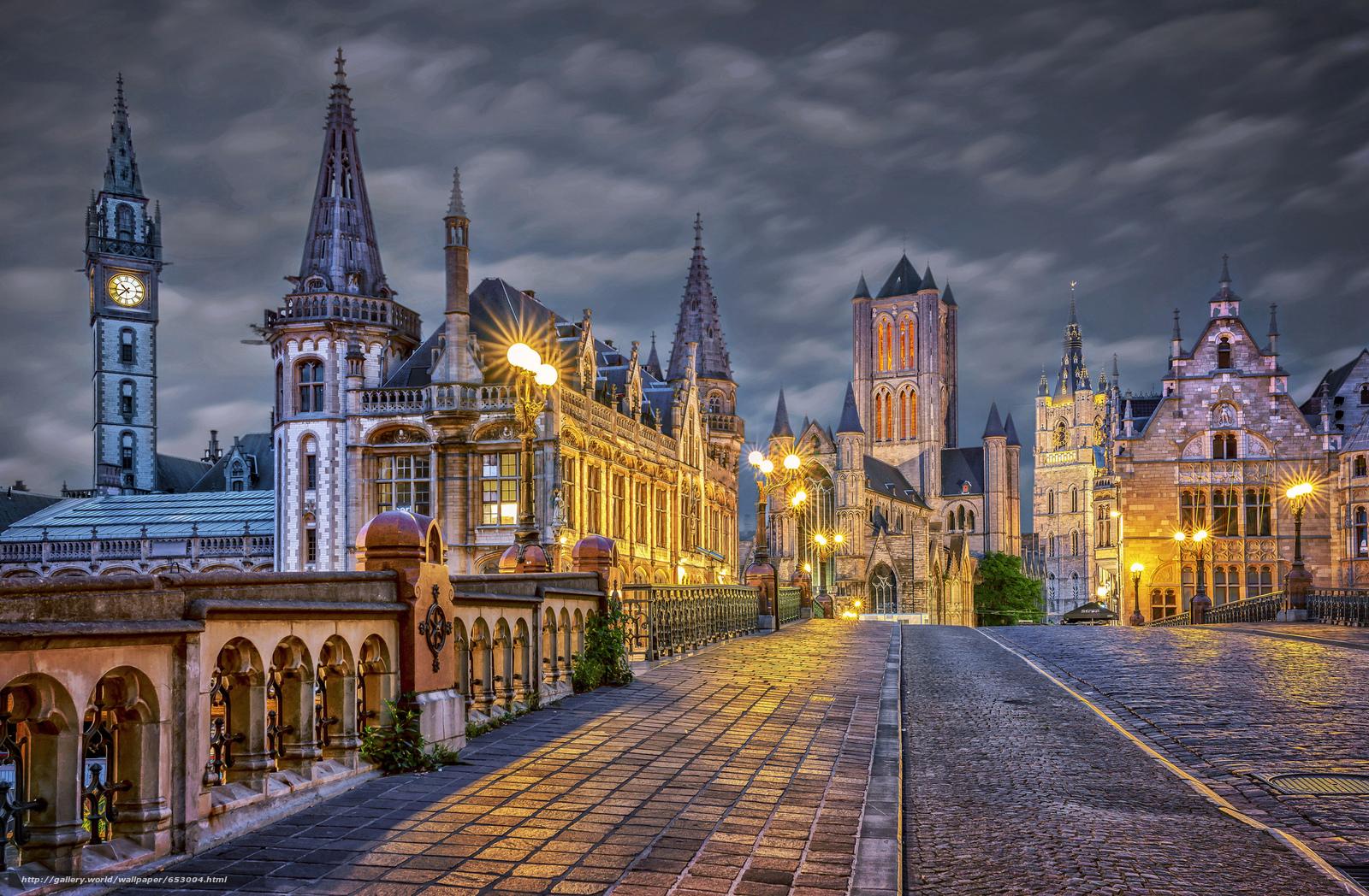 Download wallpaper gent ghent belgium city free desktop - Wallpaper picture ...