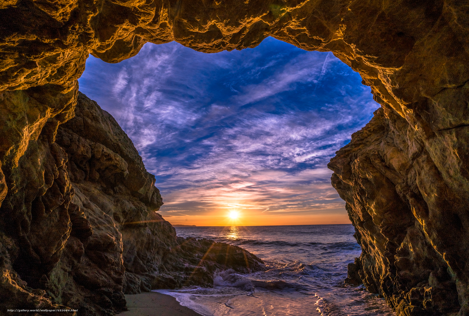 Скачать обои Malibu,  закат,  море,  волны бесплатно для рабочего стола в разрешении 7337x4952 — картинка №653064