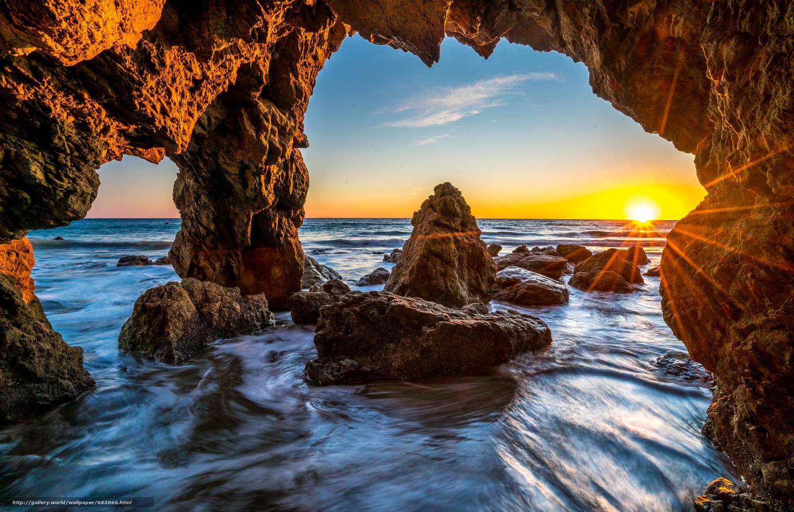 Скачать обои Malibu,  закат,  море,  волны бесплатно для рабочего стола в разрешении 7746x5002 — картинка №653066