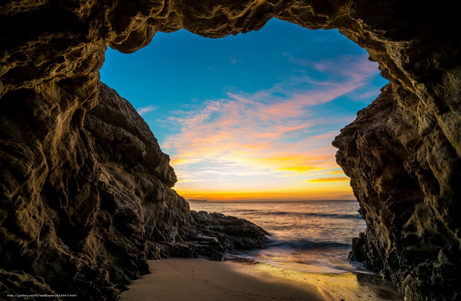 Скачать обои Malibu,  закат,  море,  волны бесплатно для рабочего стола в разрешении 7845x5137 — картинка №653067