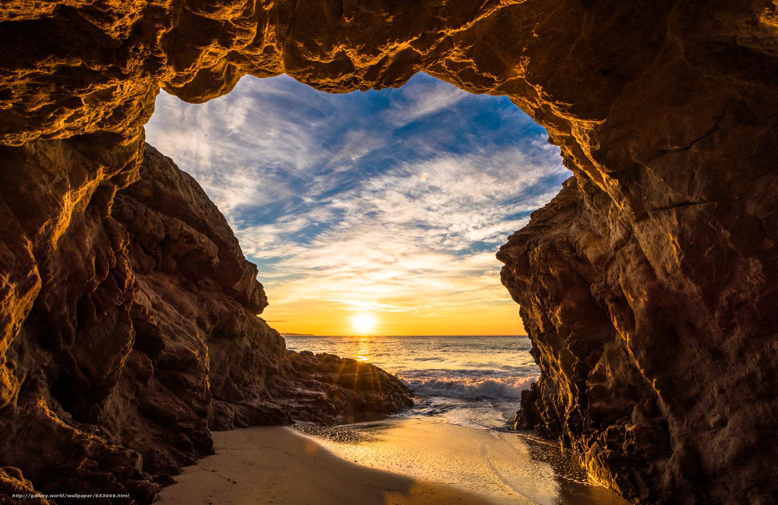 Скачать обои Malibu,  закат,  море,  волны бесплатно для рабочего стола в разрешении 7138x4634 — картинка №653069