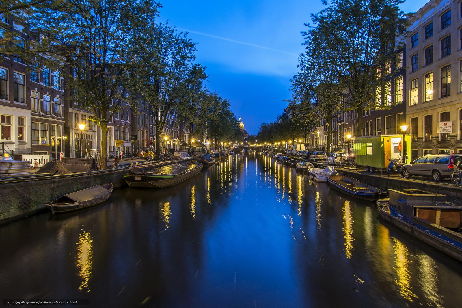 Скачать обои Amsterdam,  Амстердам,  столица и крупнейший город Нидерландов,  Нидерланды бесплатно для рабочего стола в разрешении 2048x1365 — картинка №653115