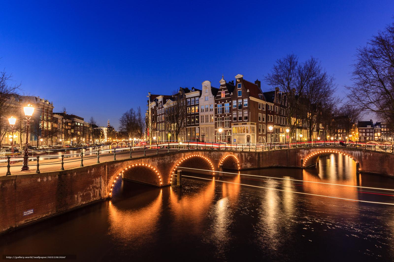 Скачать обои Amsterdam,  Амстердам,  столица и крупнейший город Нидерландов,  Нидерланды бесплатно для рабочего стола в разрешении 2048x1365 — картинка №653158