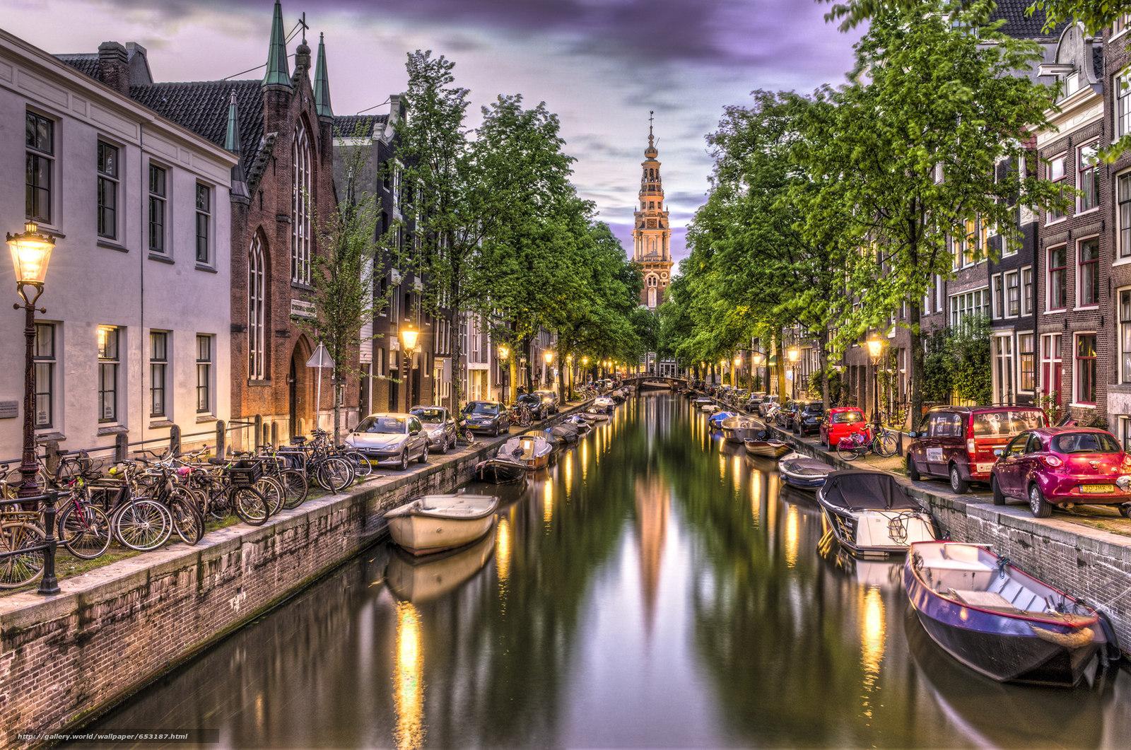 Download Hintergrund Amsterdam,  Amsterdam,  Hauptstadt und größte Stadt der Niederlande,  Niederlande Freie desktop Tapeten in der Auflosung 2048x1358 — bild №653187