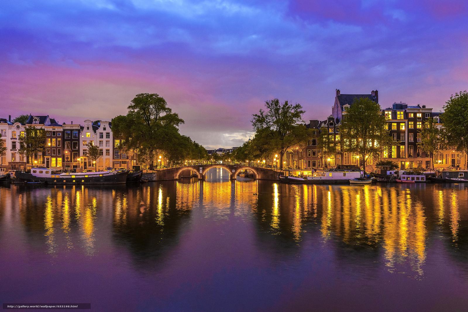 Скачать обои Amsterdam,  Амстердам,  столица и крупнейший город Нидерландов,  Нидерланды бесплатно для рабочего стола в разрешении 2048x1367 — картинка №653198