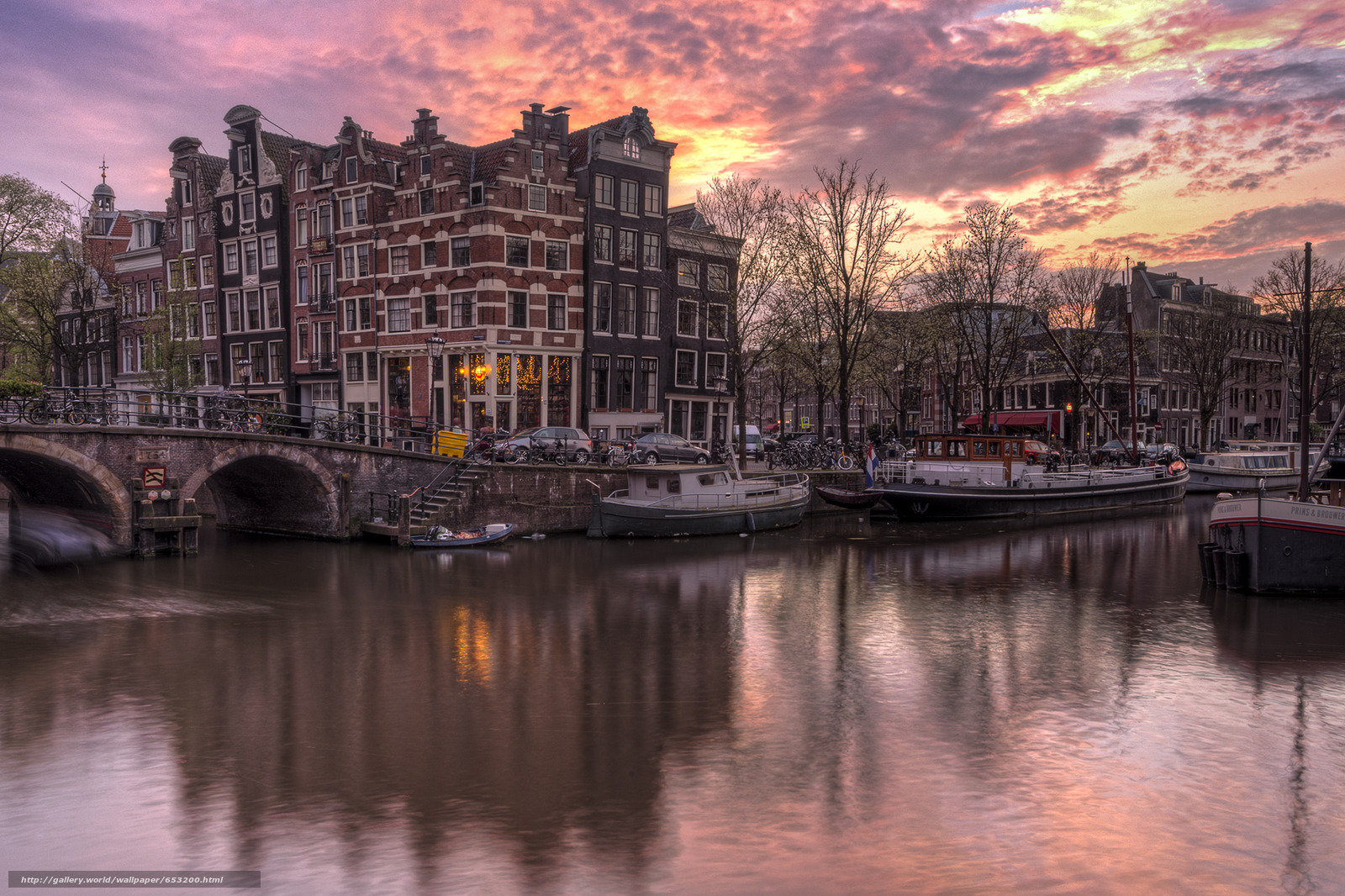 Скачать обои Amsterdam,  Амстердам,  столица и крупнейший город Нидерландов,  Нидерланды бесплатно для рабочего стола в разрешении 2048x1364 — картинка №653200