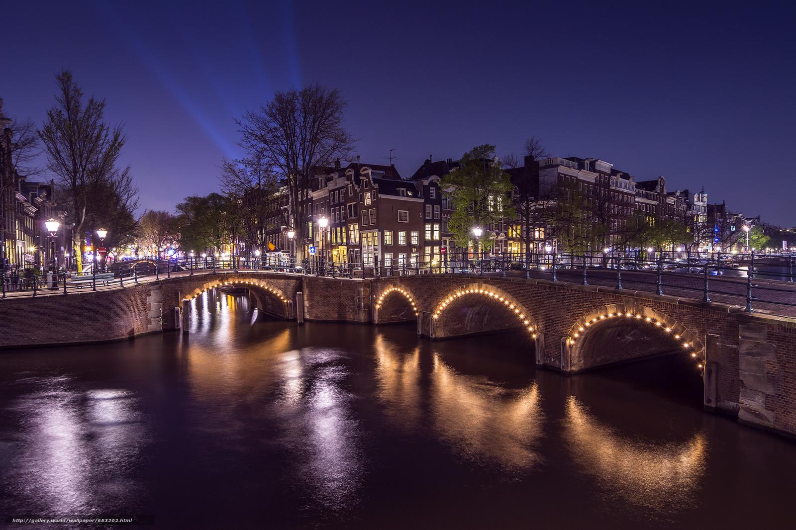 Скачать обои Amsterdam,  Амстердам,  столица и крупнейший город Нидерландов,  Нидерланды бесплатно для рабочего стола в разрешении 2048x1365 — картинка №653202