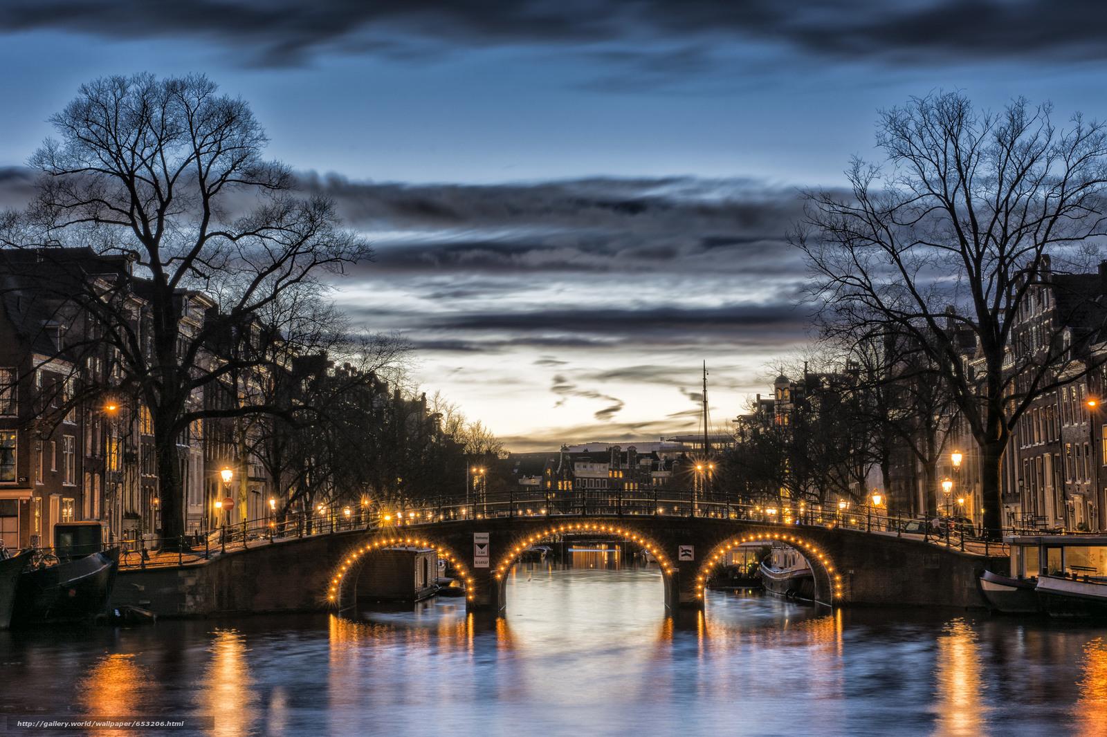 Скачать обои Amsterdam,  Амстердам,  столица и крупнейший город Нидерландов,  Нидерланды бесплатно для рабочего стола в разрешении 2048x1365 — картинка №653206