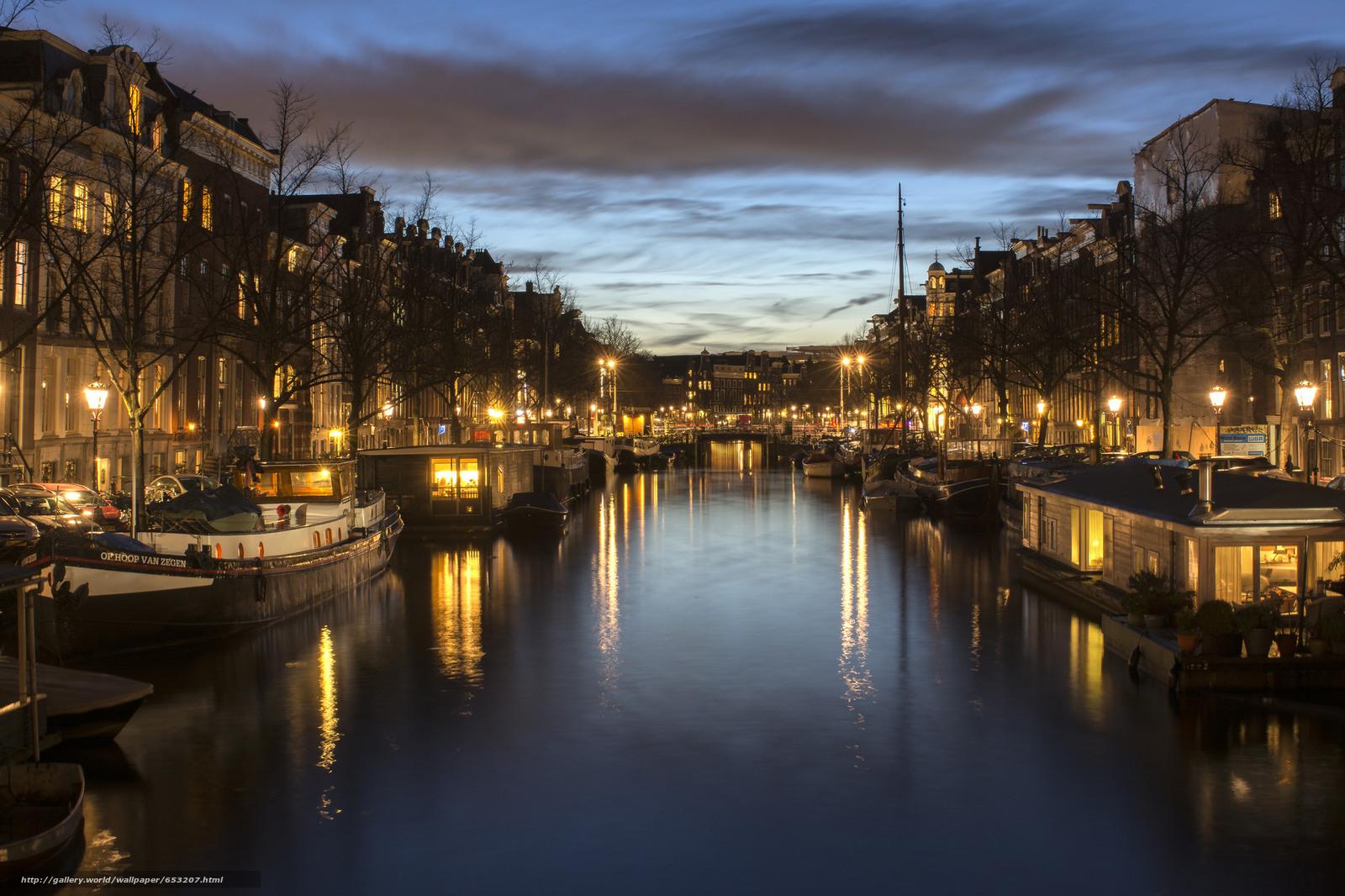 Скачать обои Amsterdam,  Амстердам,  столица и крупнейший город Нидерландов,  Нидерланды бесплатно для рабочего стола в разрешении 2048x1365 — картинка №653207