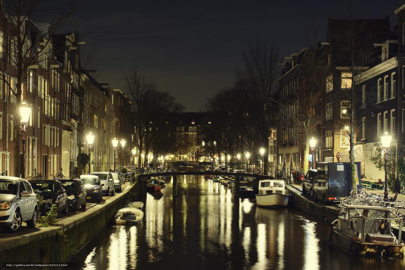 Скачать обои Amsterdam,  Амстердам,  столица и крупнейший город Нидерландов,  Нидерланды бесплатно для рабочего стола в разрешении 2048x1365 — картинка №653212