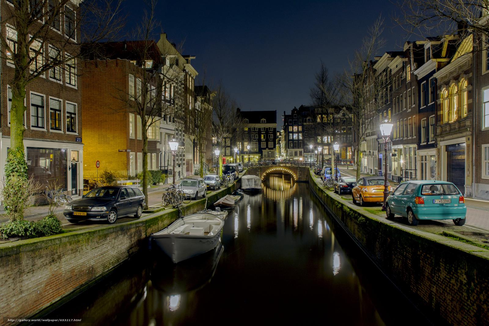Скачать обои Amsterdam,  Амстердам,  столица и крупнейший город Нидерландов,  Нидерланды бесплатно для рабочего стола в разрешении 2048x1365 — картинка №653217