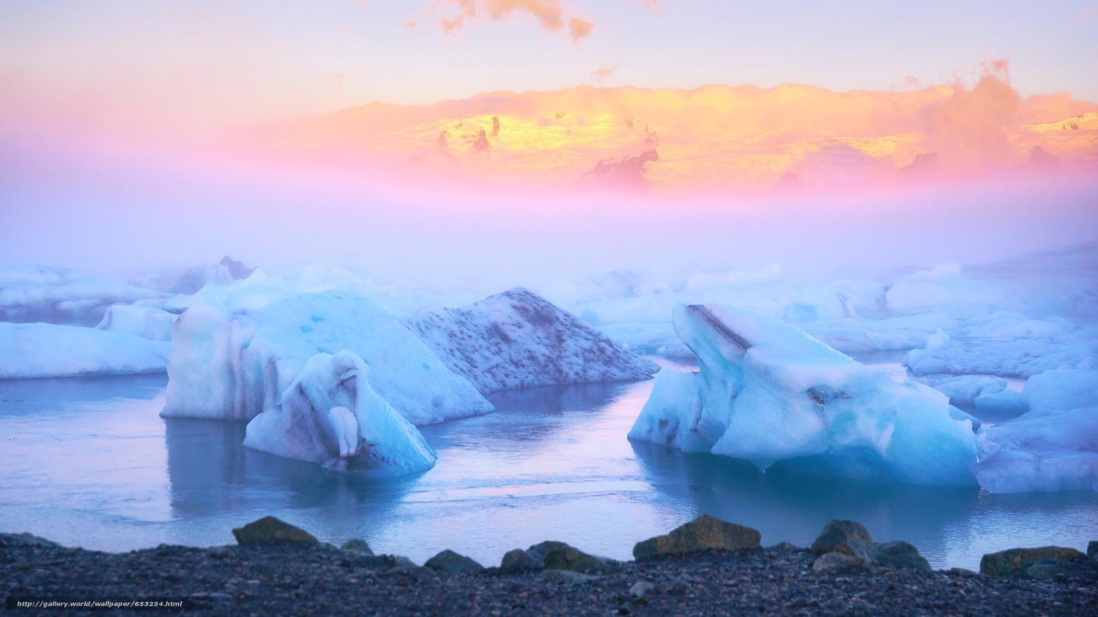 Скачать обои Исландия,  льды,  лед,  ледник бесплатно для рабочего стола в разрешении 3840x2160 — картинка №653254