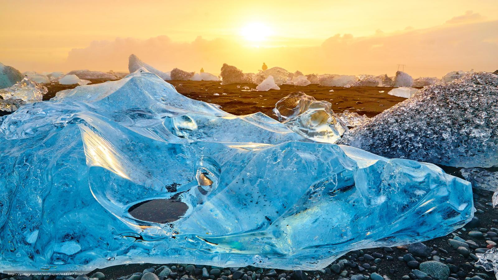 Скачать обои Исландия,  льды,  лед,  ледник бесплатно для рабочего стола в разрешении 3840x2160 — картинка №653257