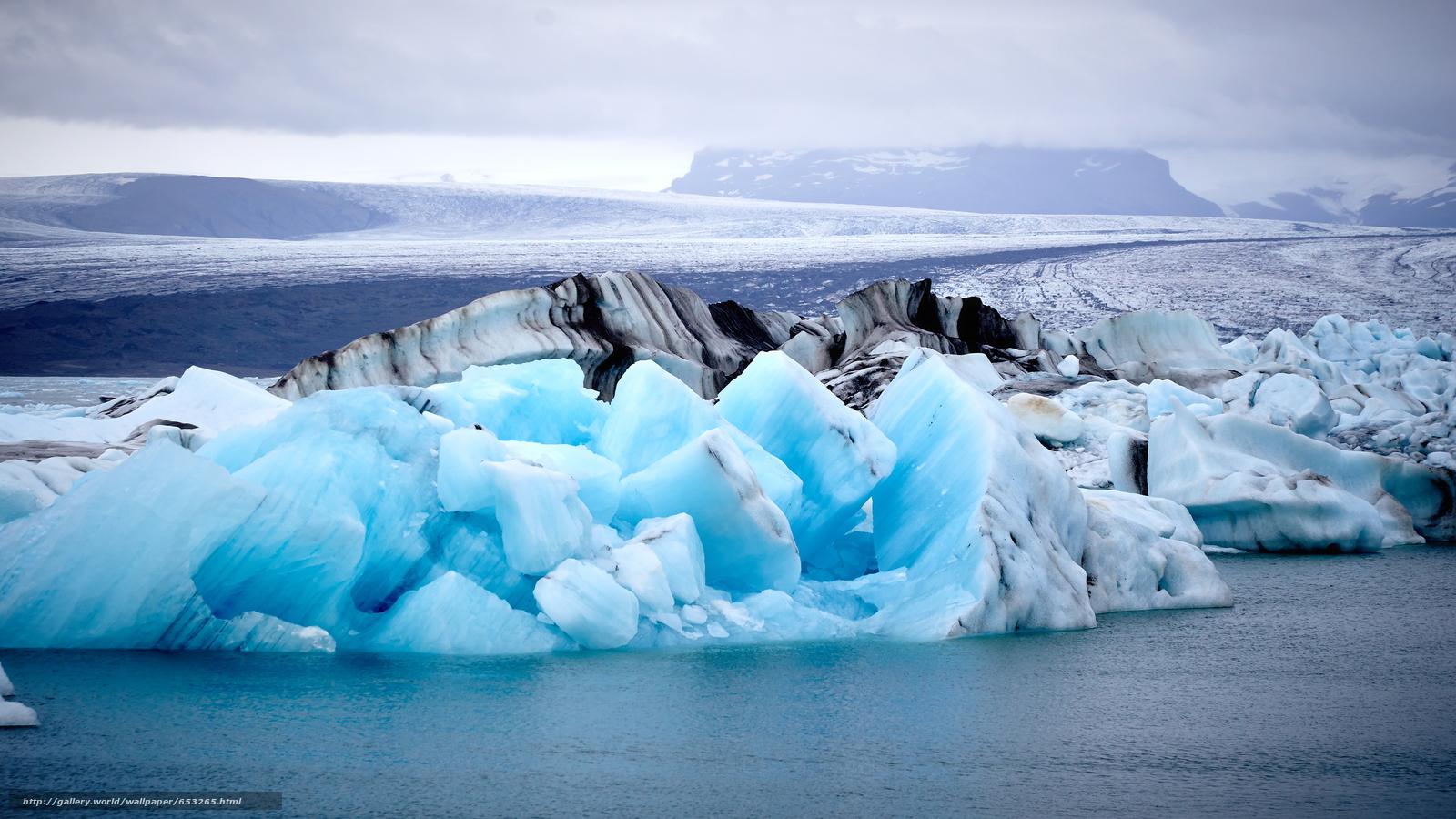 scaricare gli sfondi Islanda,  ghiaccio,  gelato,  ghiacciaio Sfondi gratis per la risoluzione del desktop 3840x2160 — immagine №653265